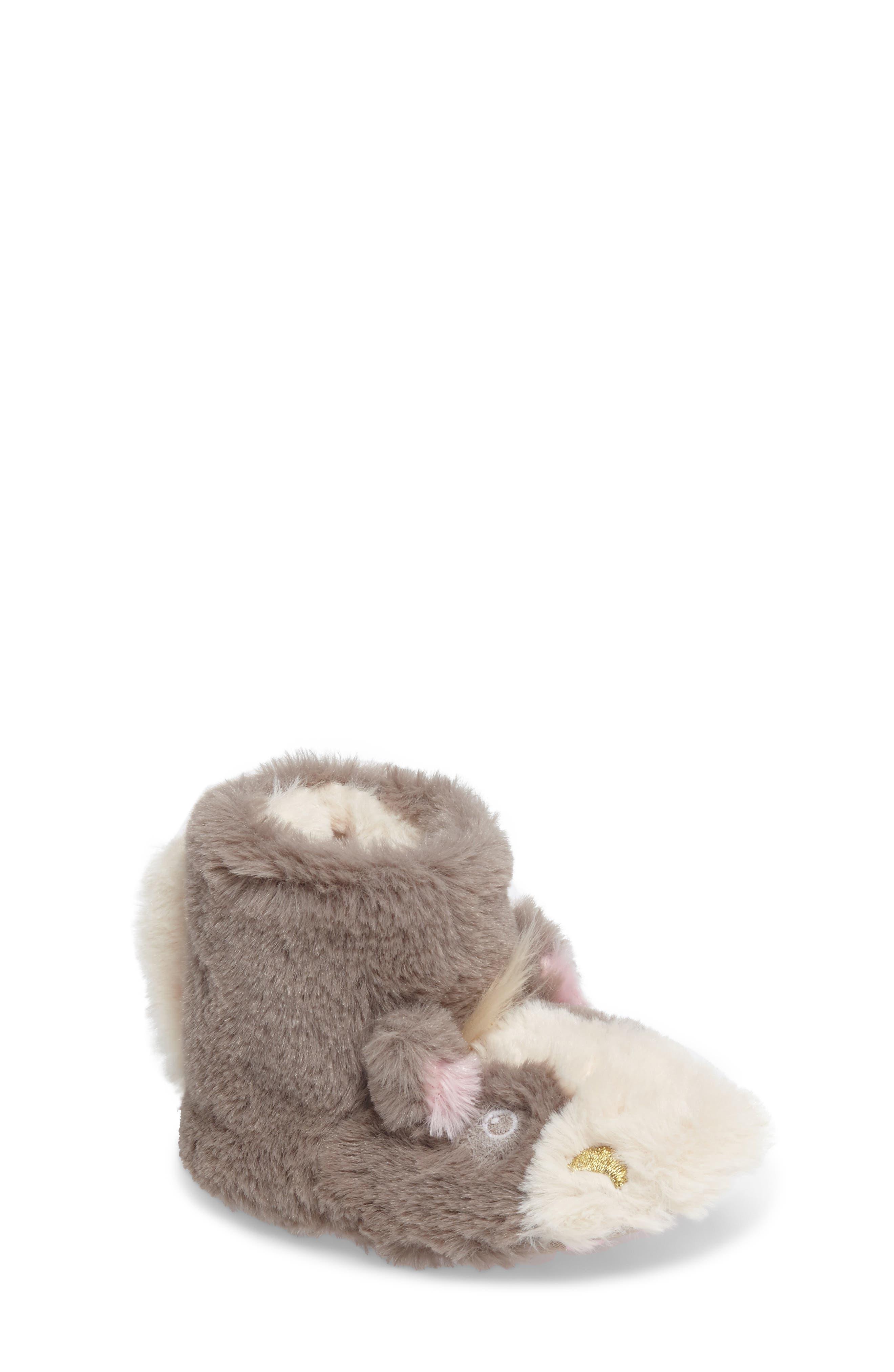 Alternate Image 1 Selected - Mini Boden Faux Fur Horse Slipper (Toddler)