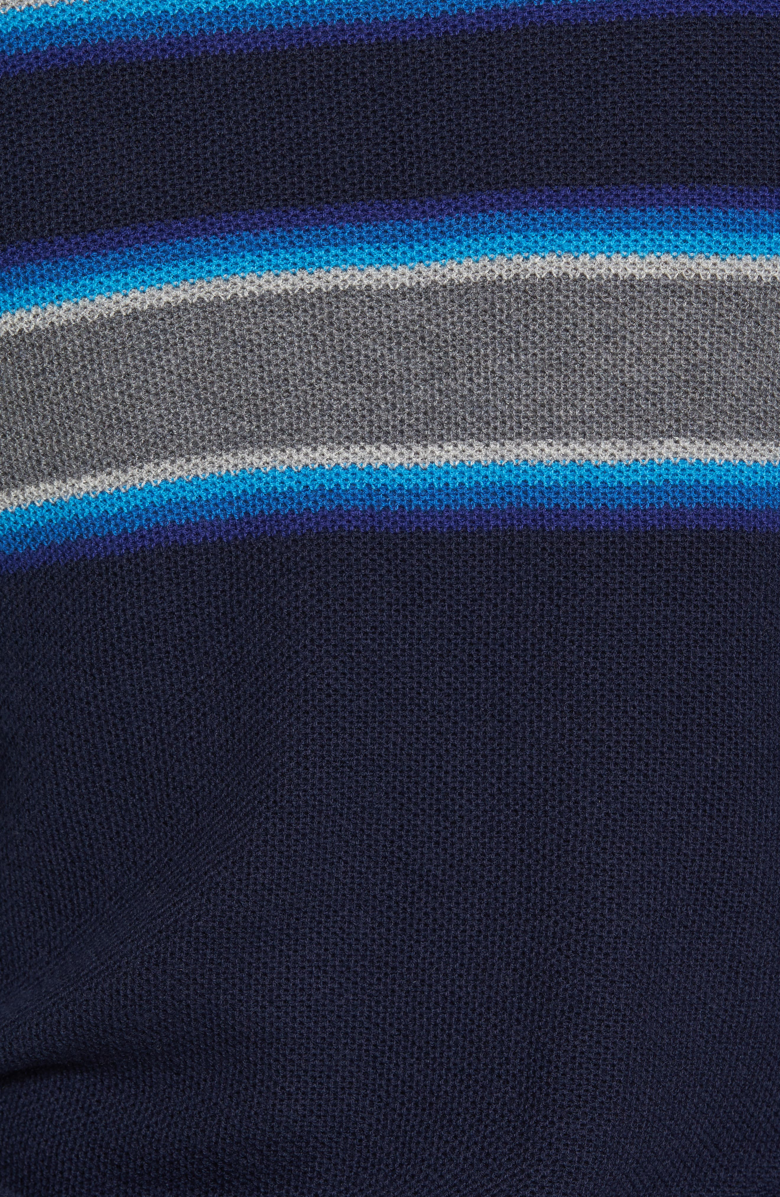 Alternate Image 5  - Michael Bastian Stripe Merino Blend Sweater