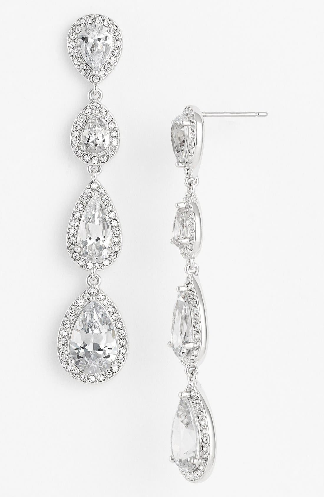 Nadri cubic zirconia chandelier earrings nordstrom exclusive cubic zirconia chandelier earrings arubaitofo Images