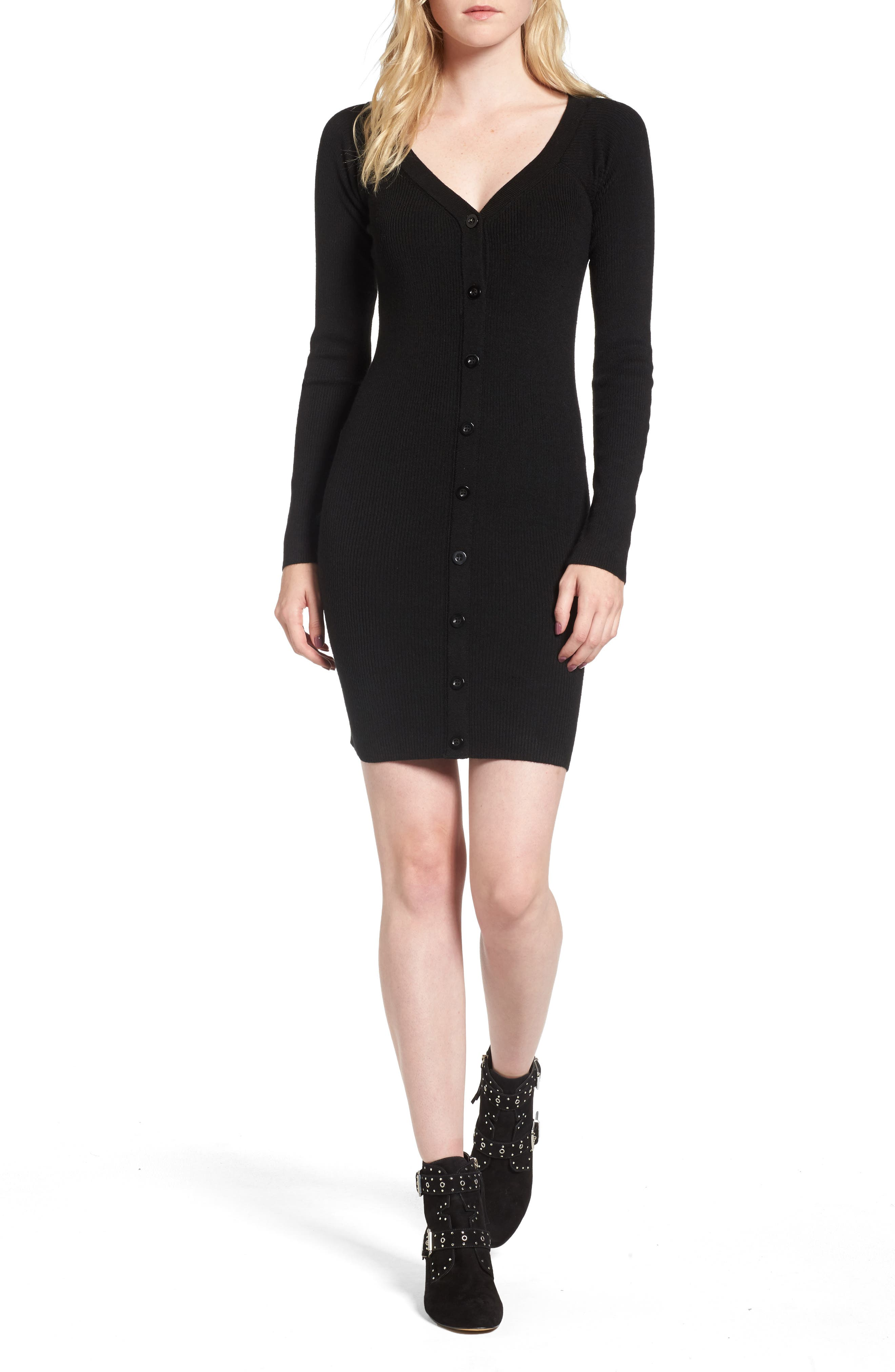 Line & Dot Camille Button Sweater Dress