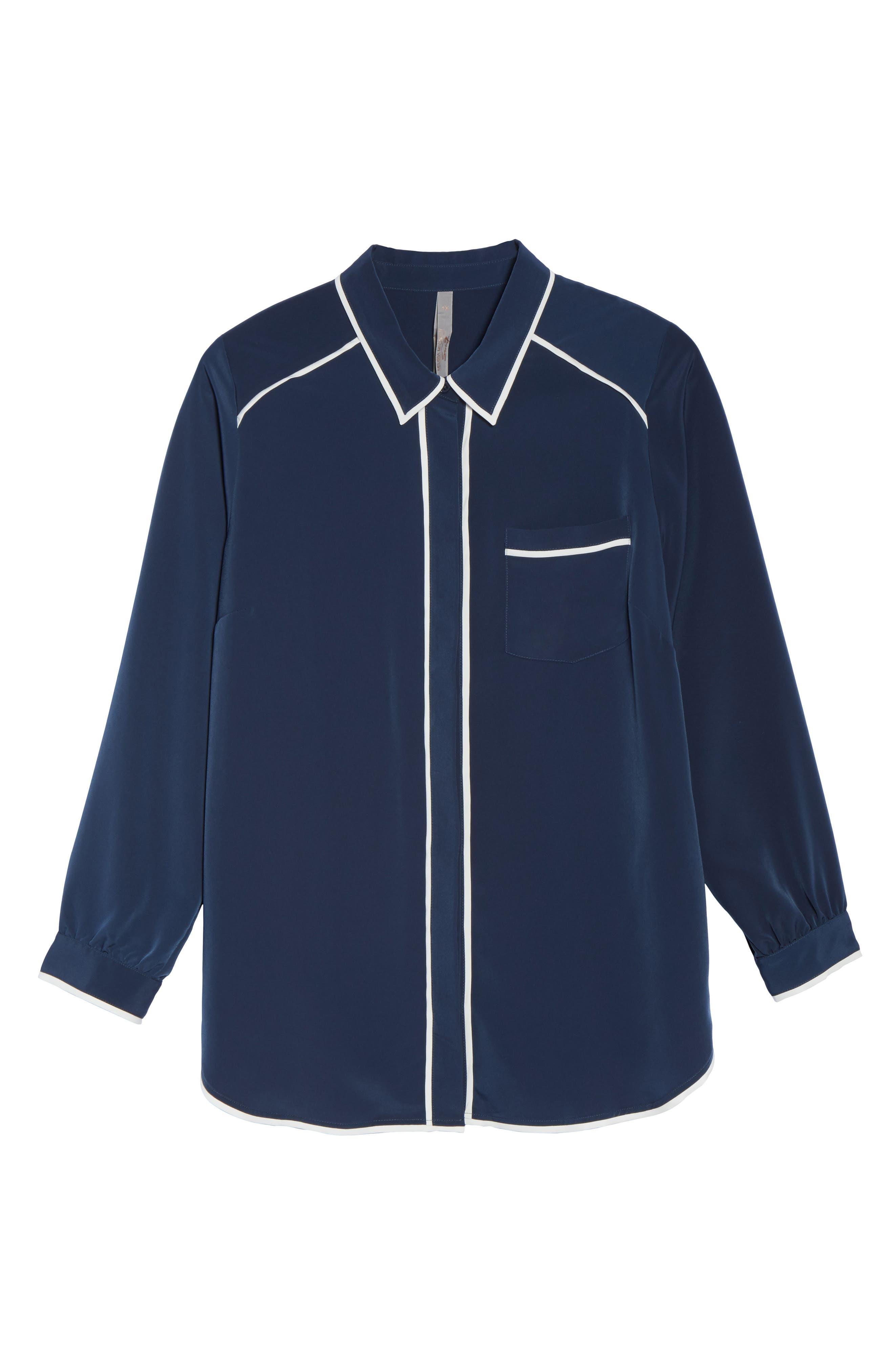 Alternate Image 6  - Melissa McCarthy Seven7 Pajama Blouse (Plus Size)