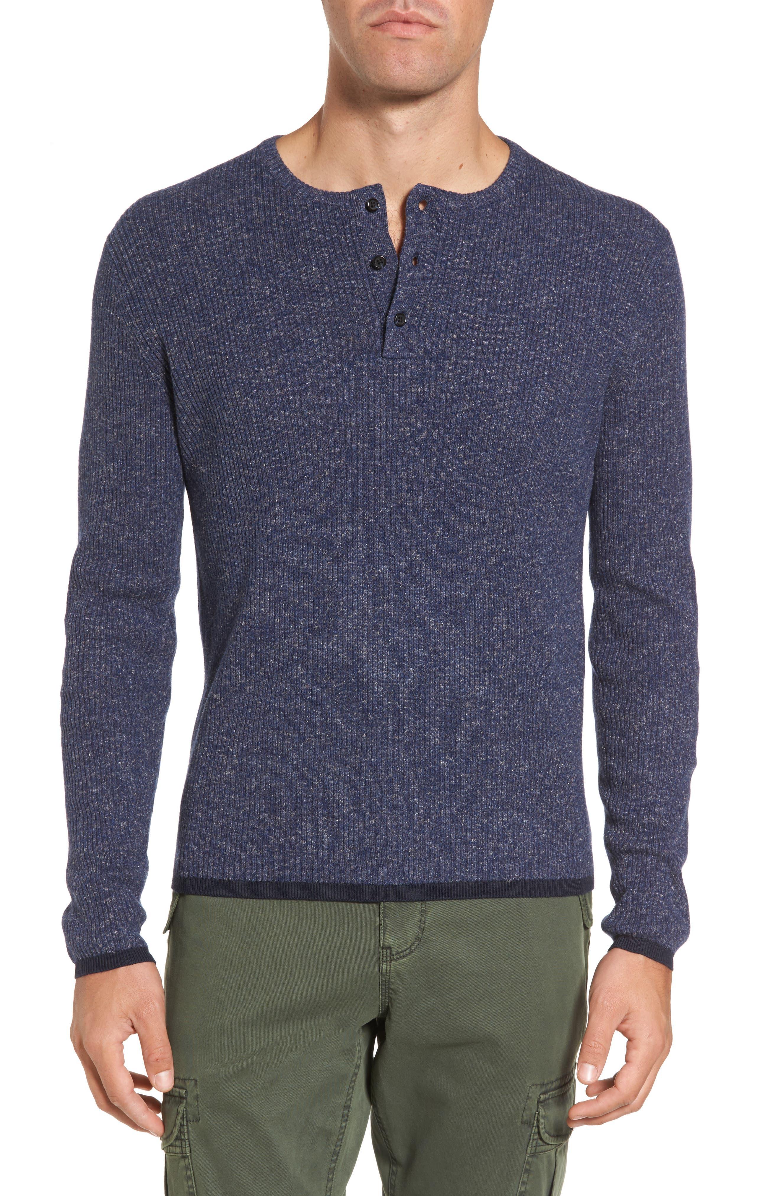 Michael Bastian Rib Henley Sweater
