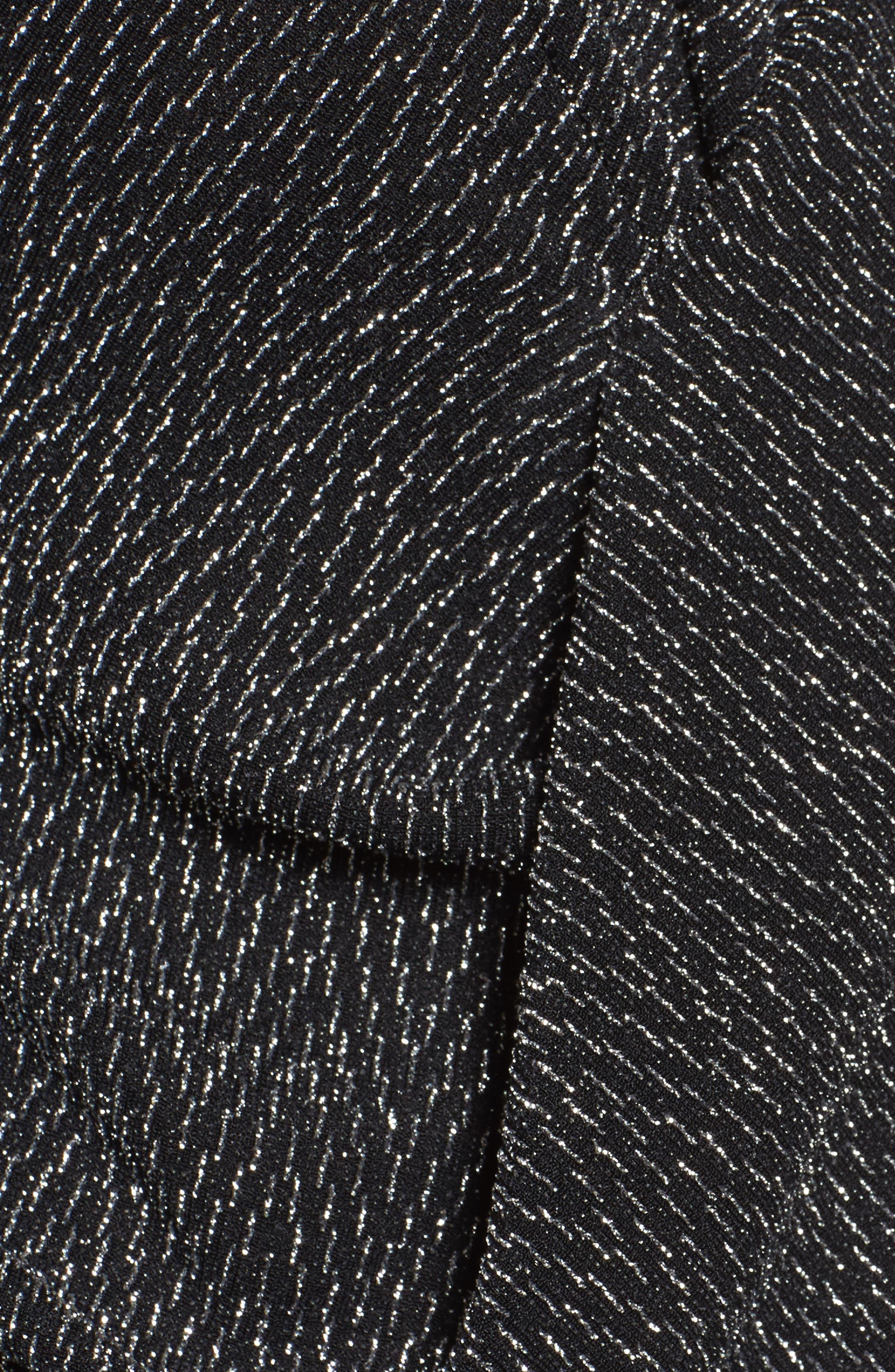 Alternate Image 5  - Chaus Long Drape Front Sparkle Knit Top