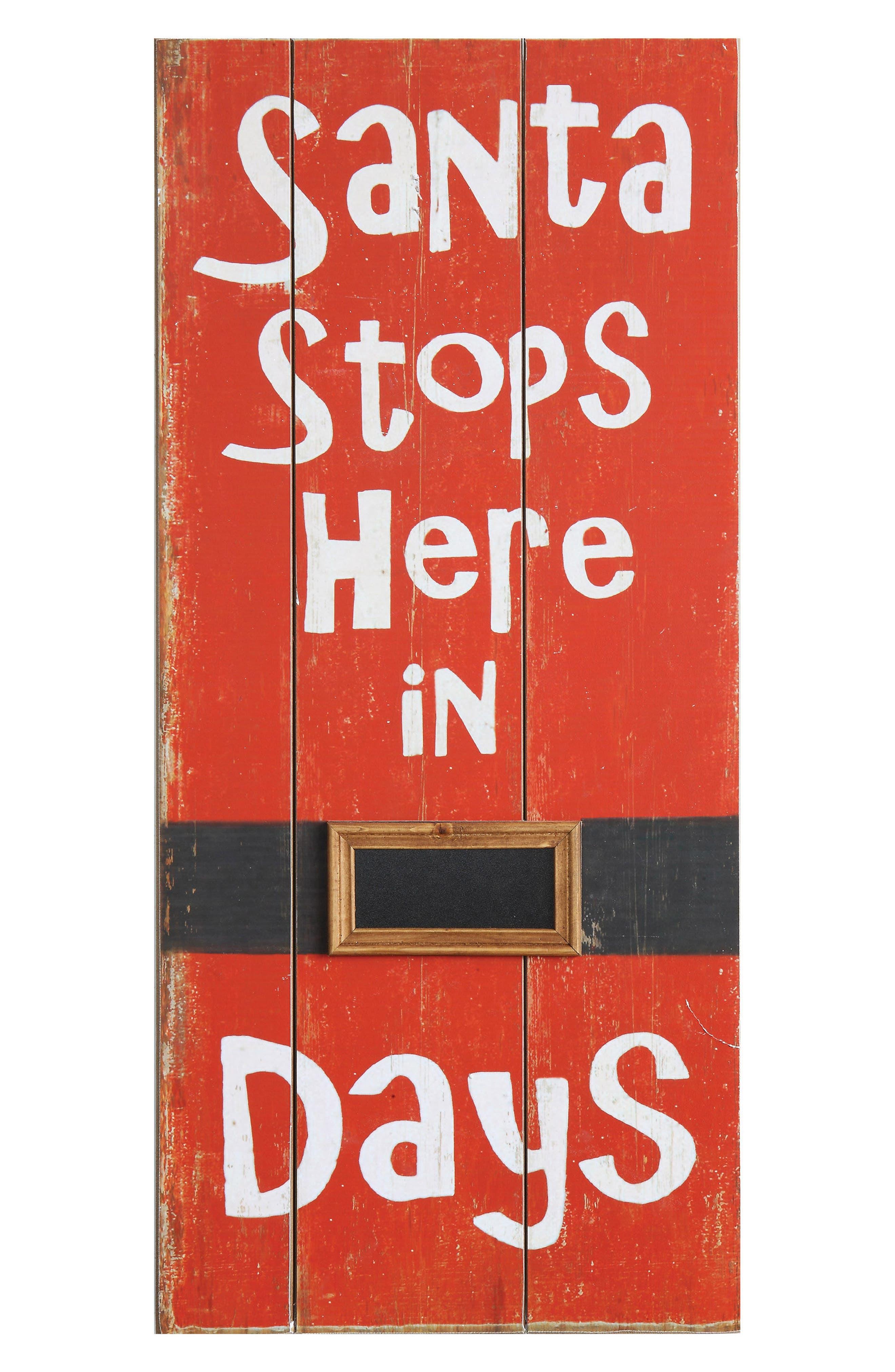 Santa Countdown Wall Art,                             Main thumbnail 1, color,                             Red