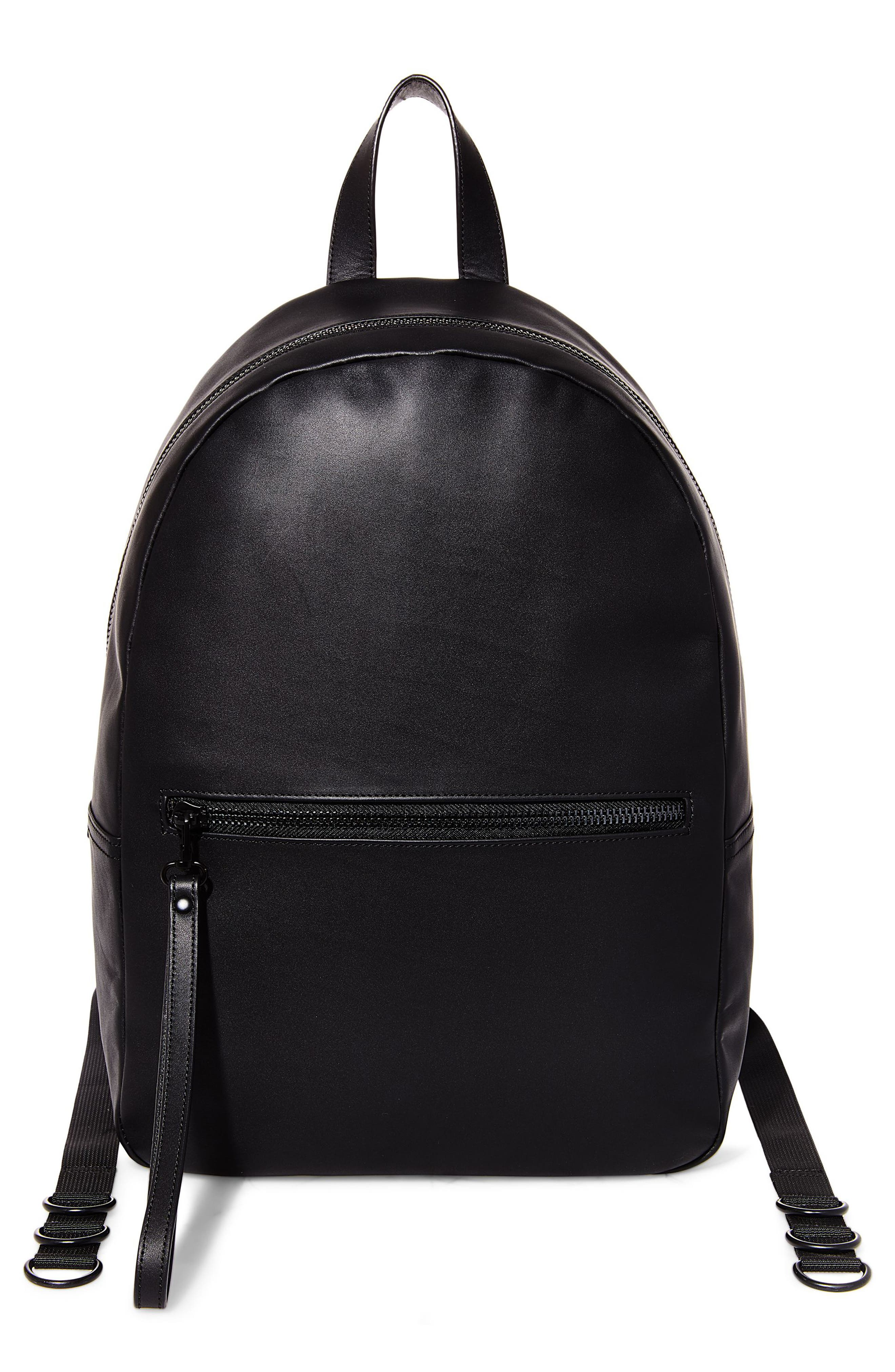 GQ x Steve Madden Leather Backpack,                             Main thumbnail 1, color,                             Black