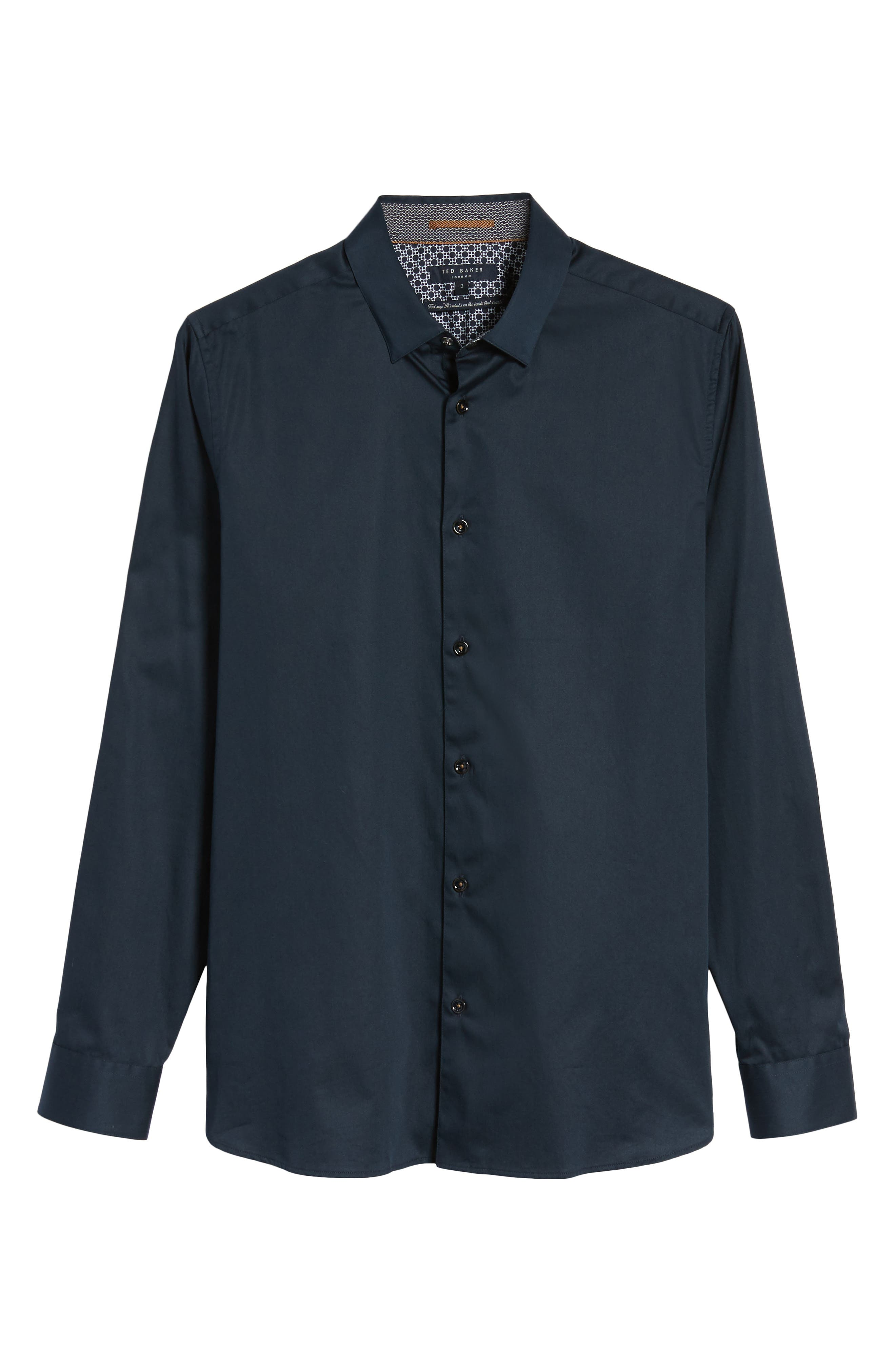 Marsay Modern Slim Fit Sport Shirt,                             Alternate thumbnail 6, color,                             Navy