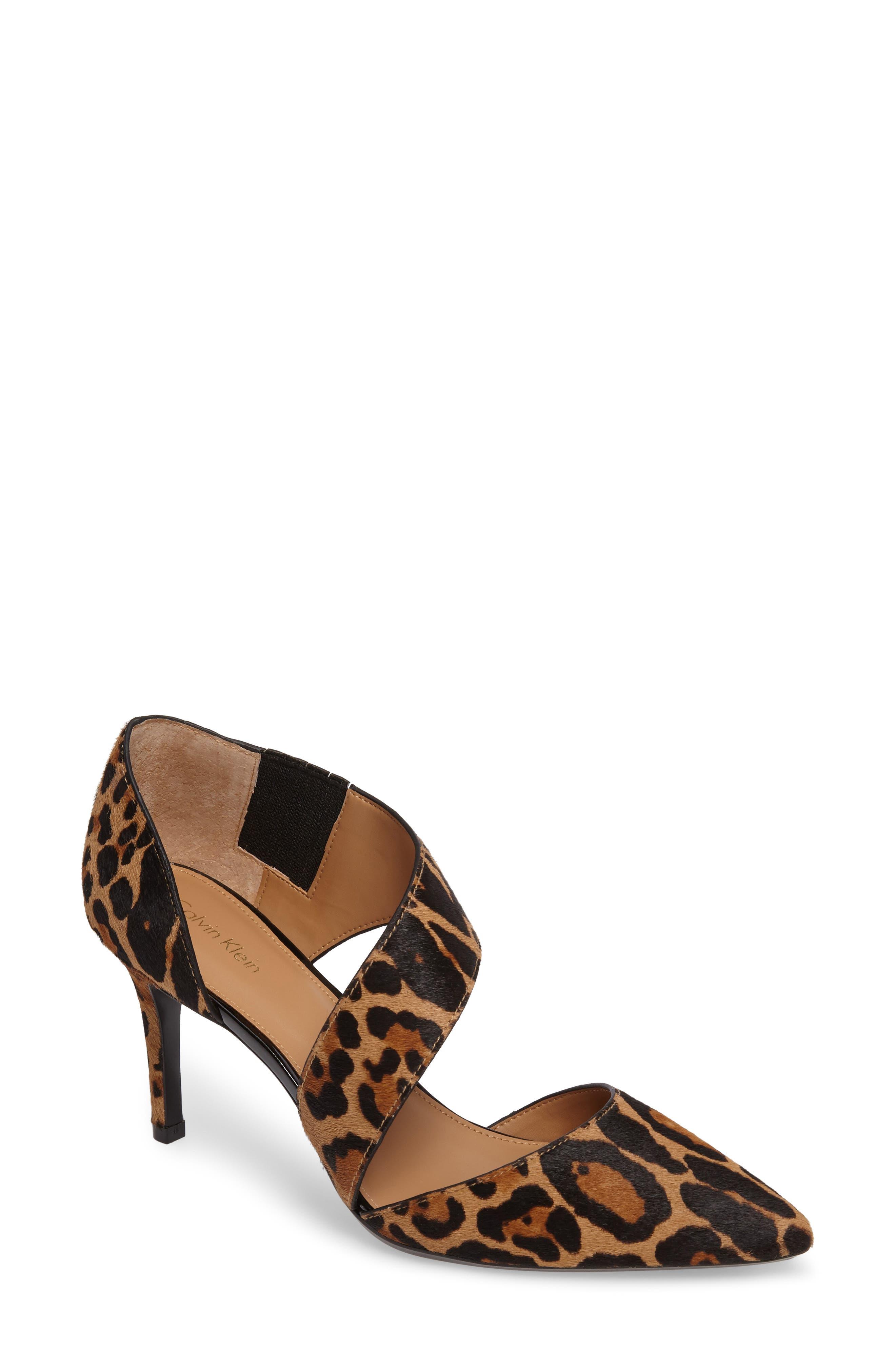 Calvin Klein 'Gella' Pointy Toe Genuine Calf Hair Pump (Women)