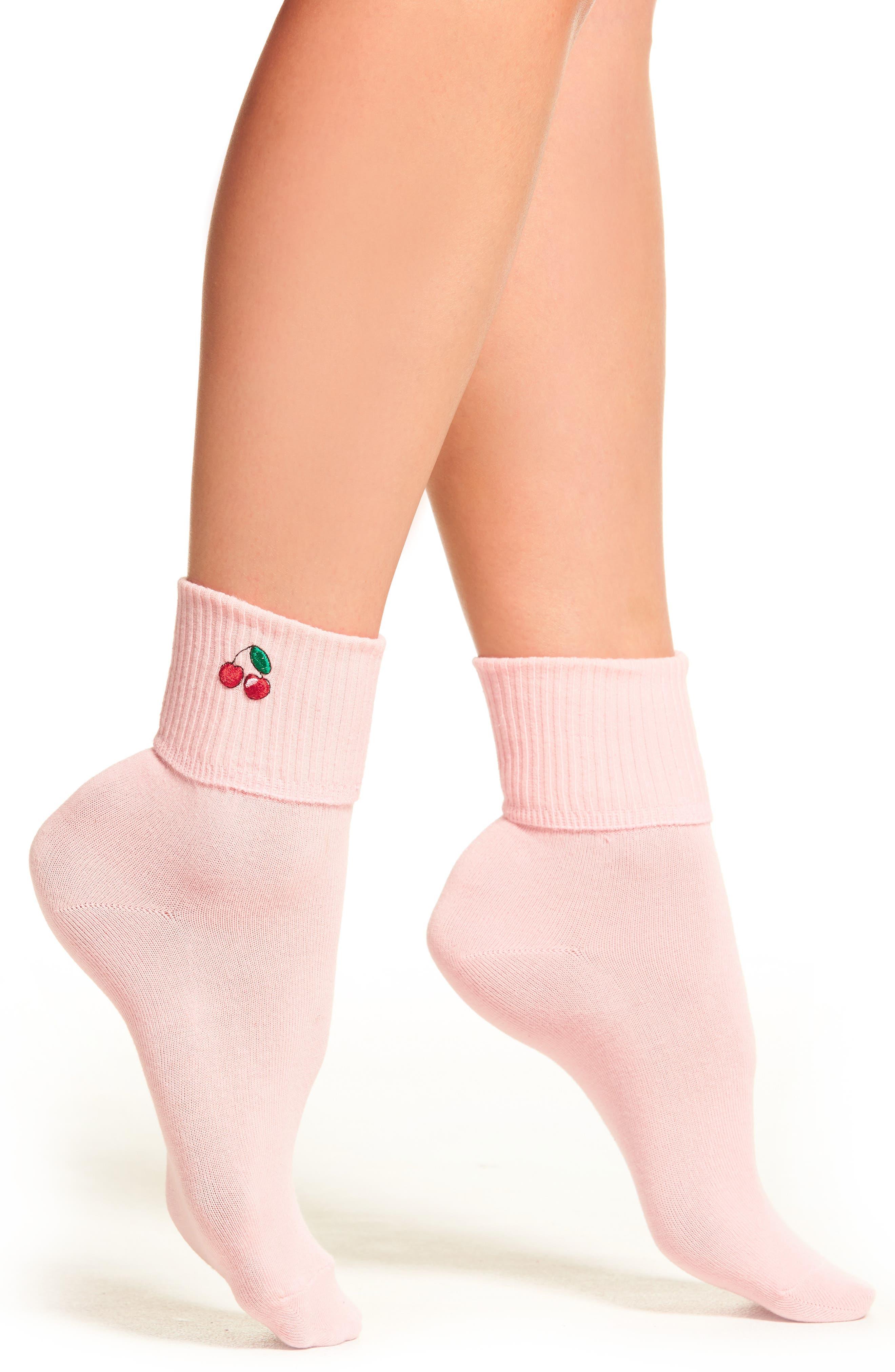 Main Image - Yeah Bunny Cherry Socks