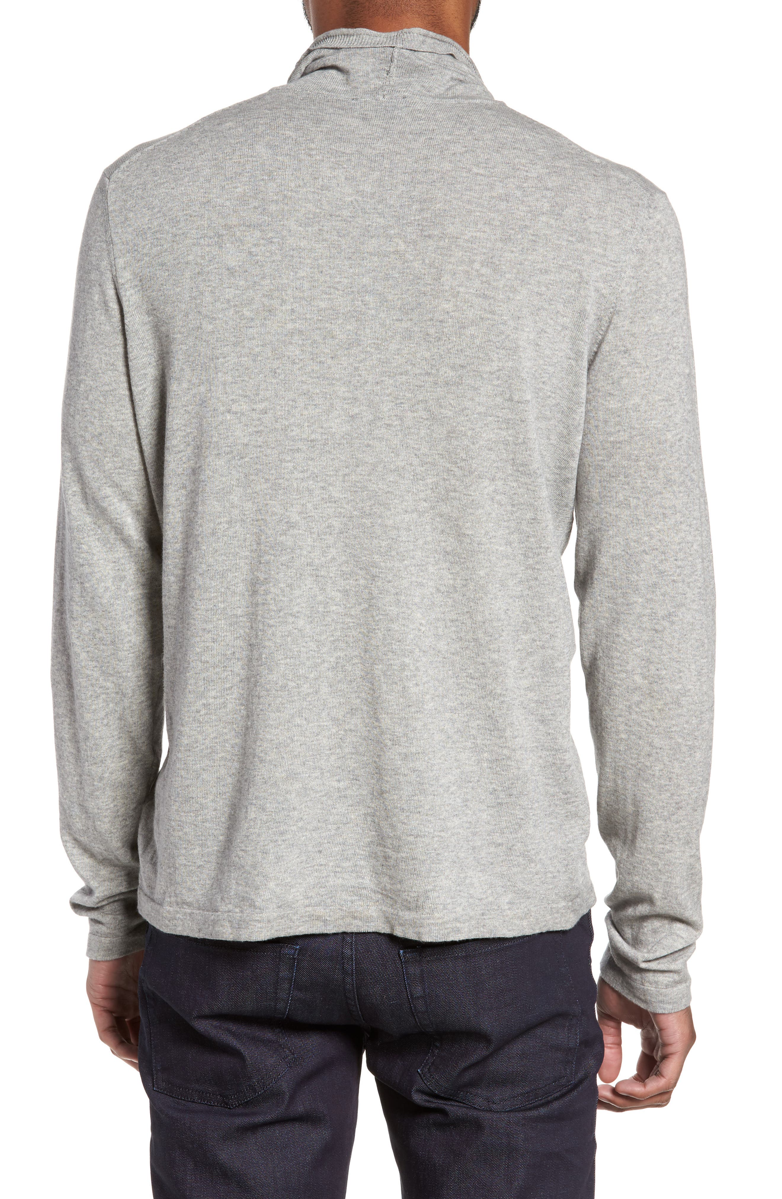 Hess Wool Turtleneck Sweater,                             Alternate thumbnail 2, color,                             Light Grey