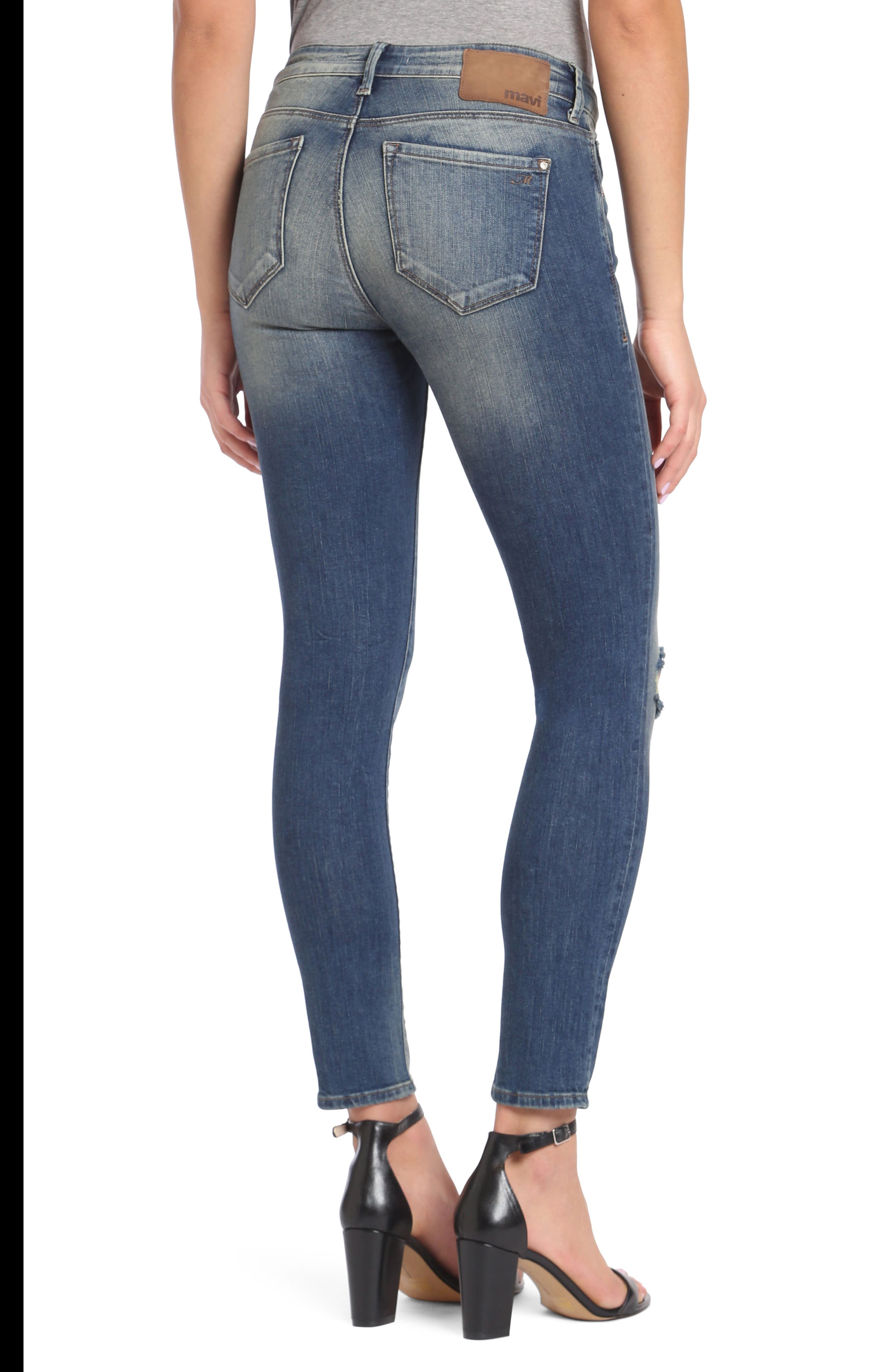 Adriana Stretch Skinny Jeans,                             Alternate thumbnail 2, color,                             Mid Shaded Glam Vintage