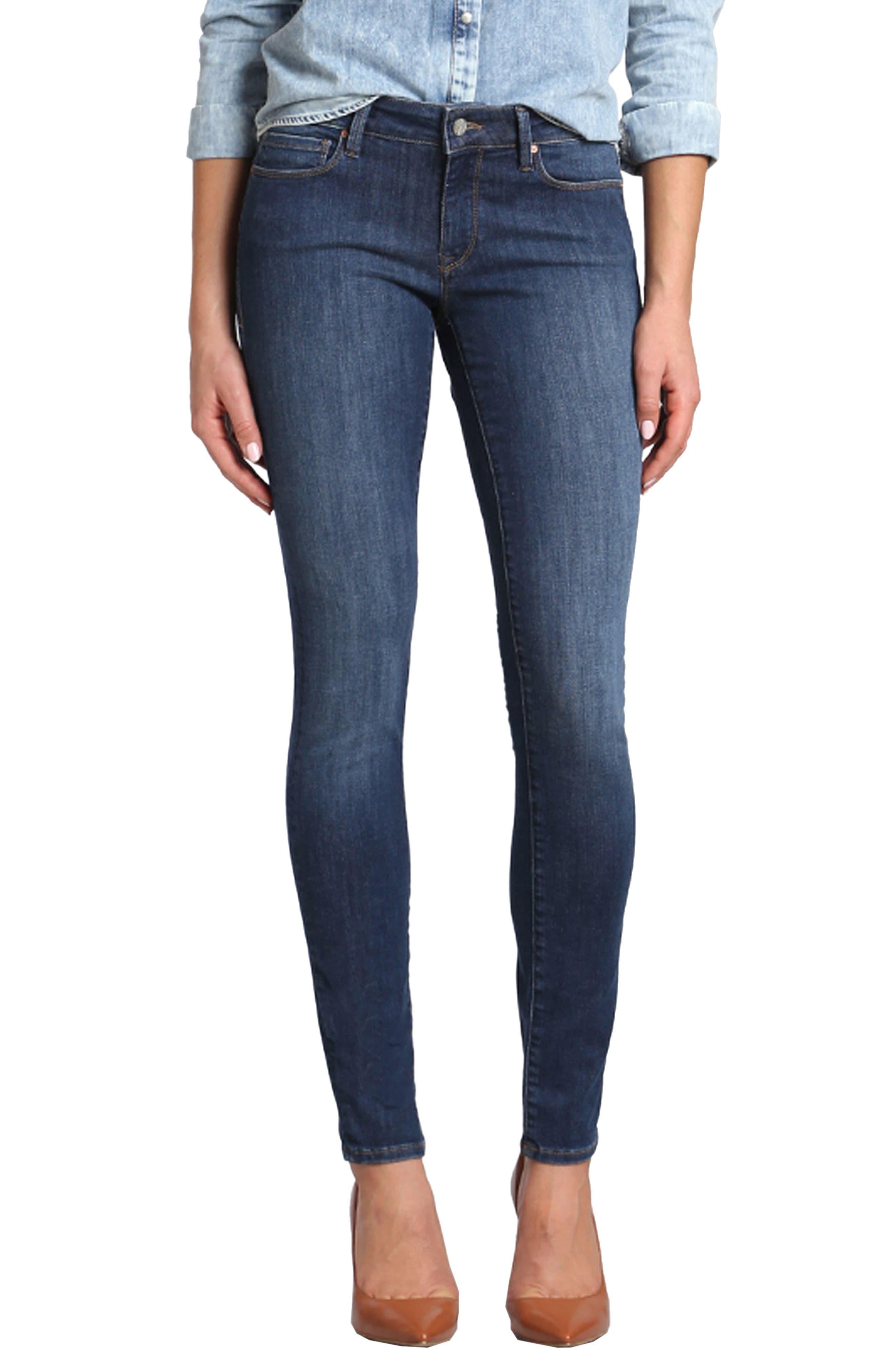 Mavi Jeans Adriana Stretch Skinny Jeans (Deep Indigo Tribeca)