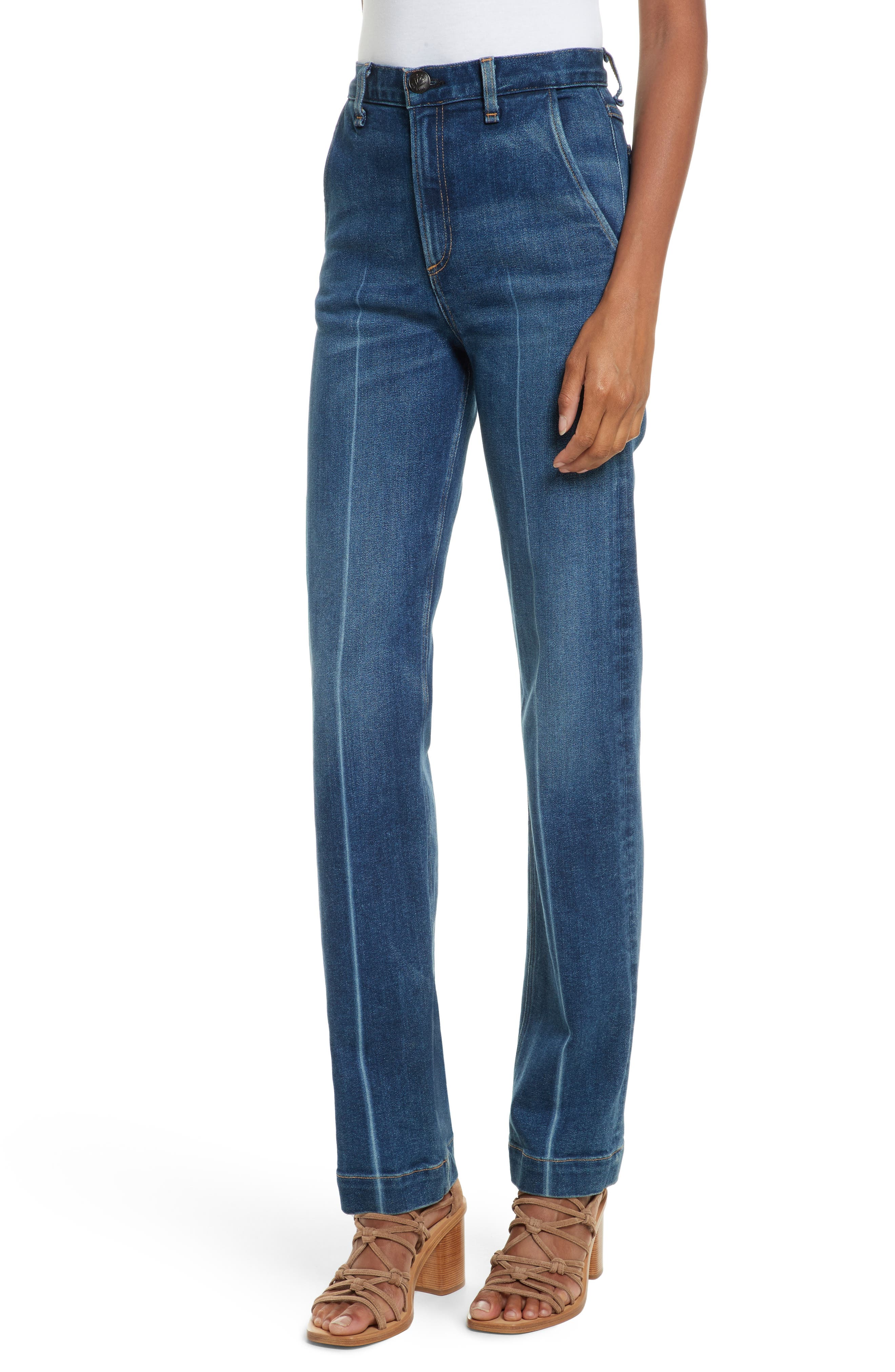Justine High Waist Trouser Jeans,                         Main,                         color, Highwater
