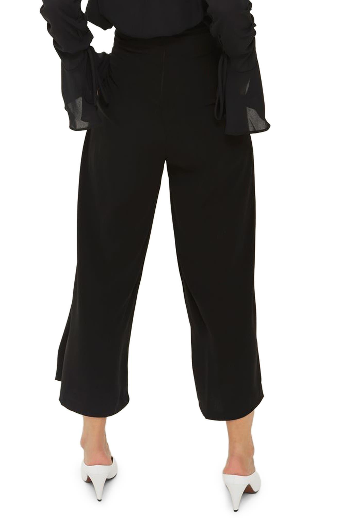 Main Image - Topshop Lattice Crop Wide Leg Trousers