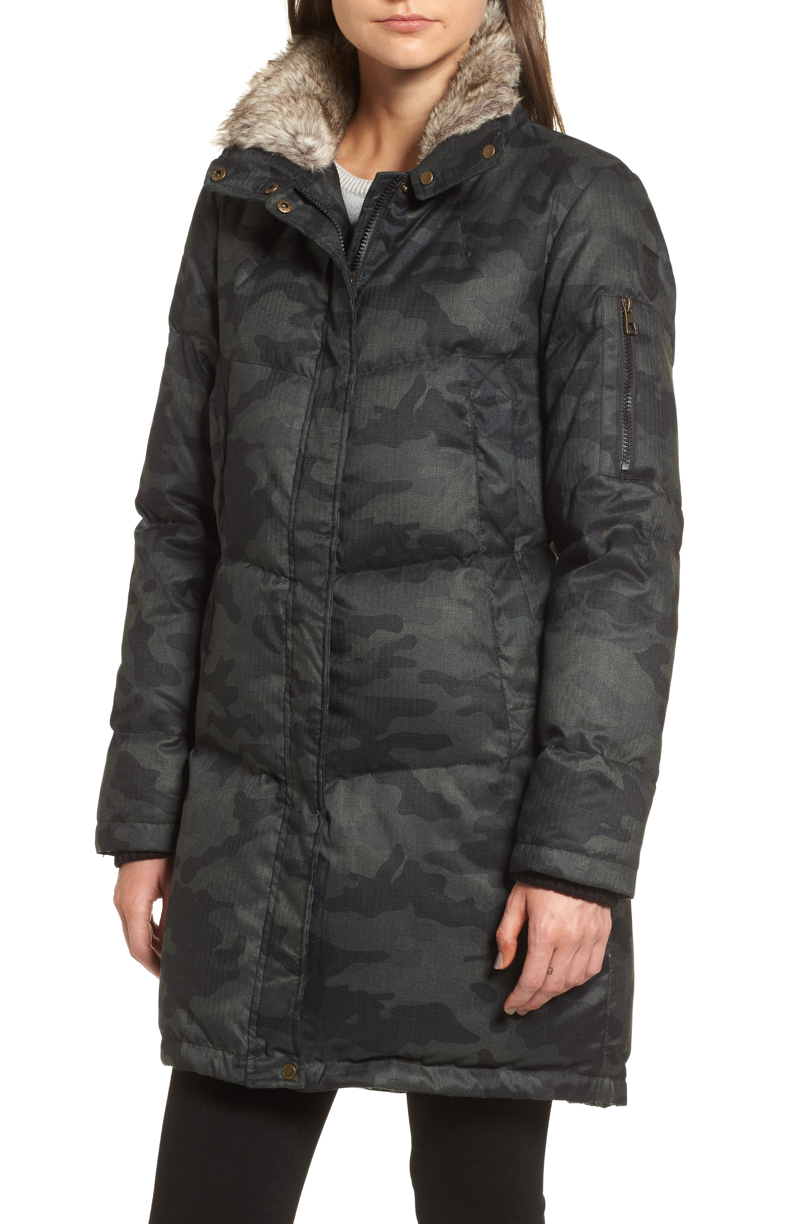 Alternate Image 4  - Vince Camuto Down & Feather Fill Parka with Faux Fur Trims