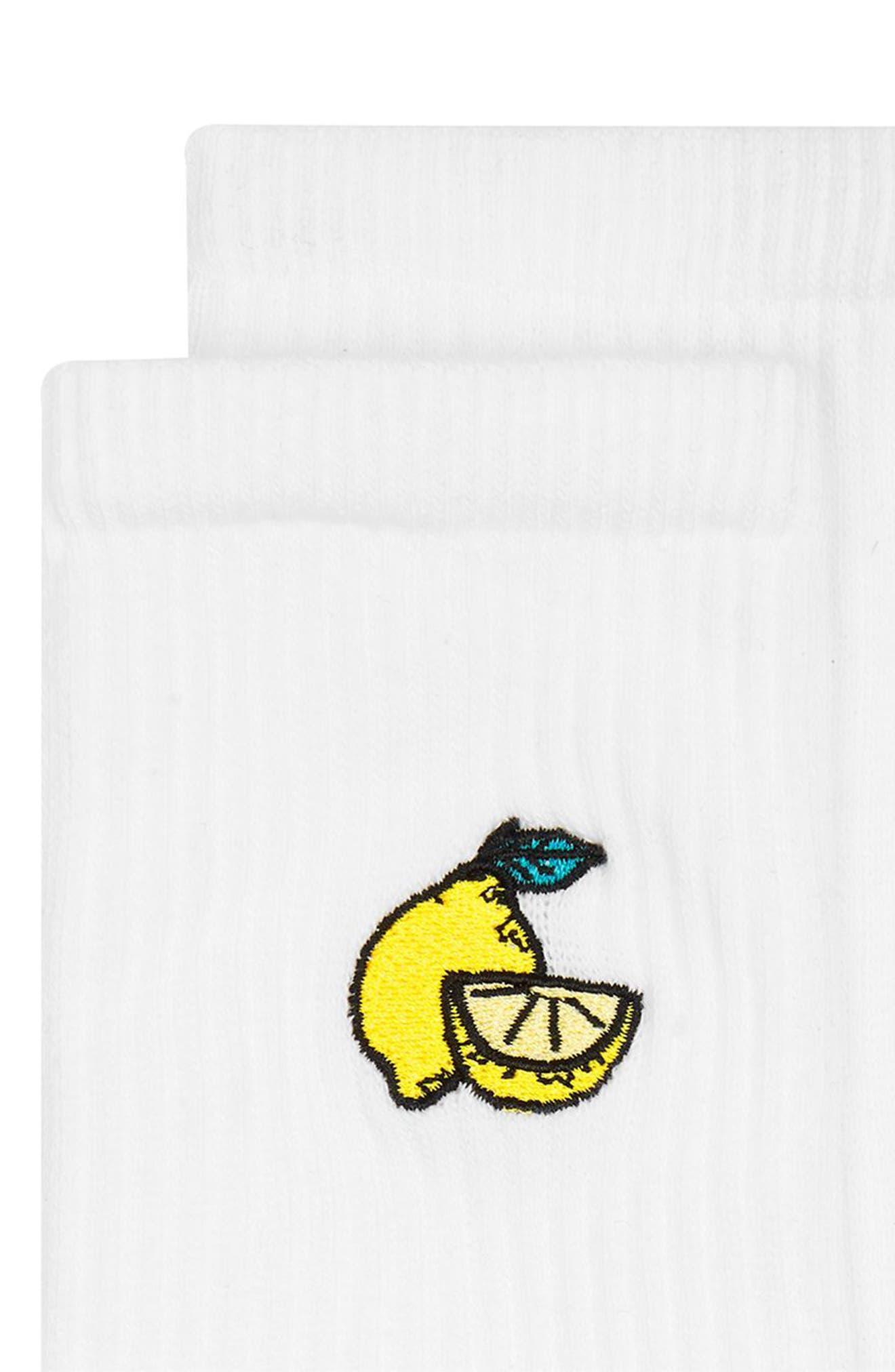 Alternate Image 2  - Topman Lemon Patch Tube Socks