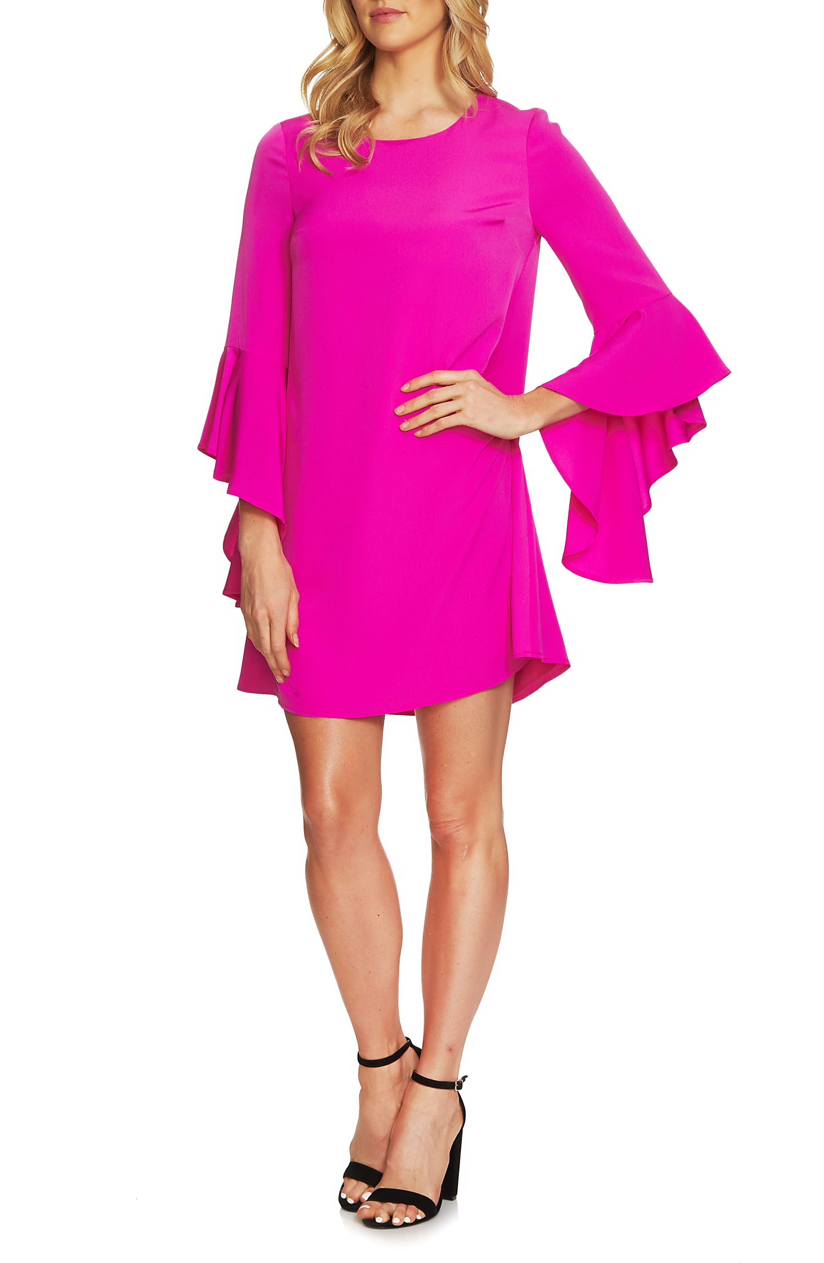 CeCe Ashley Bell Sleeve Shift Dress