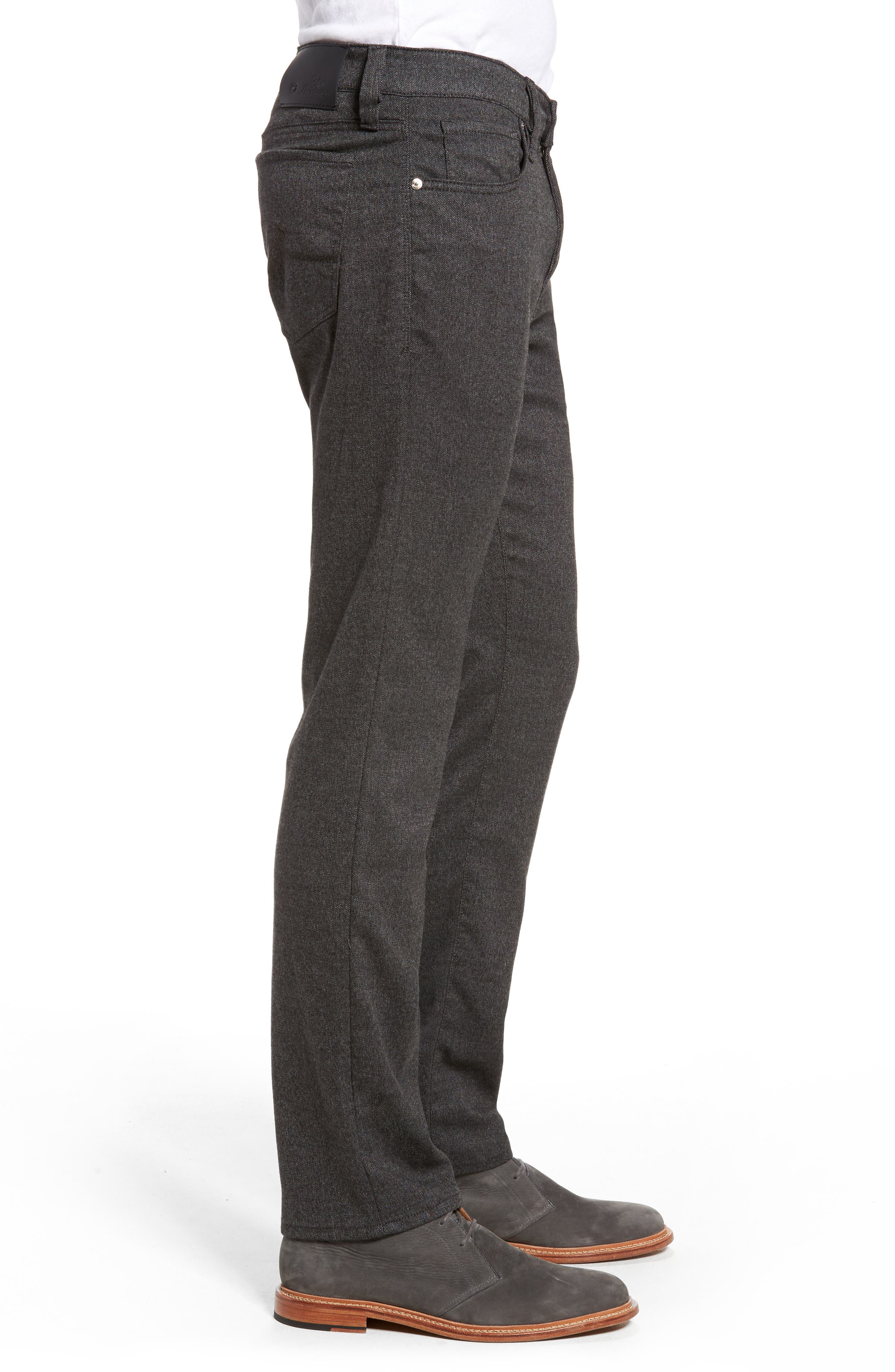 Courage Straight Leg Tweed Pants,                             Alternate thumbnail 3, color,                             Grey Feather Tweed
