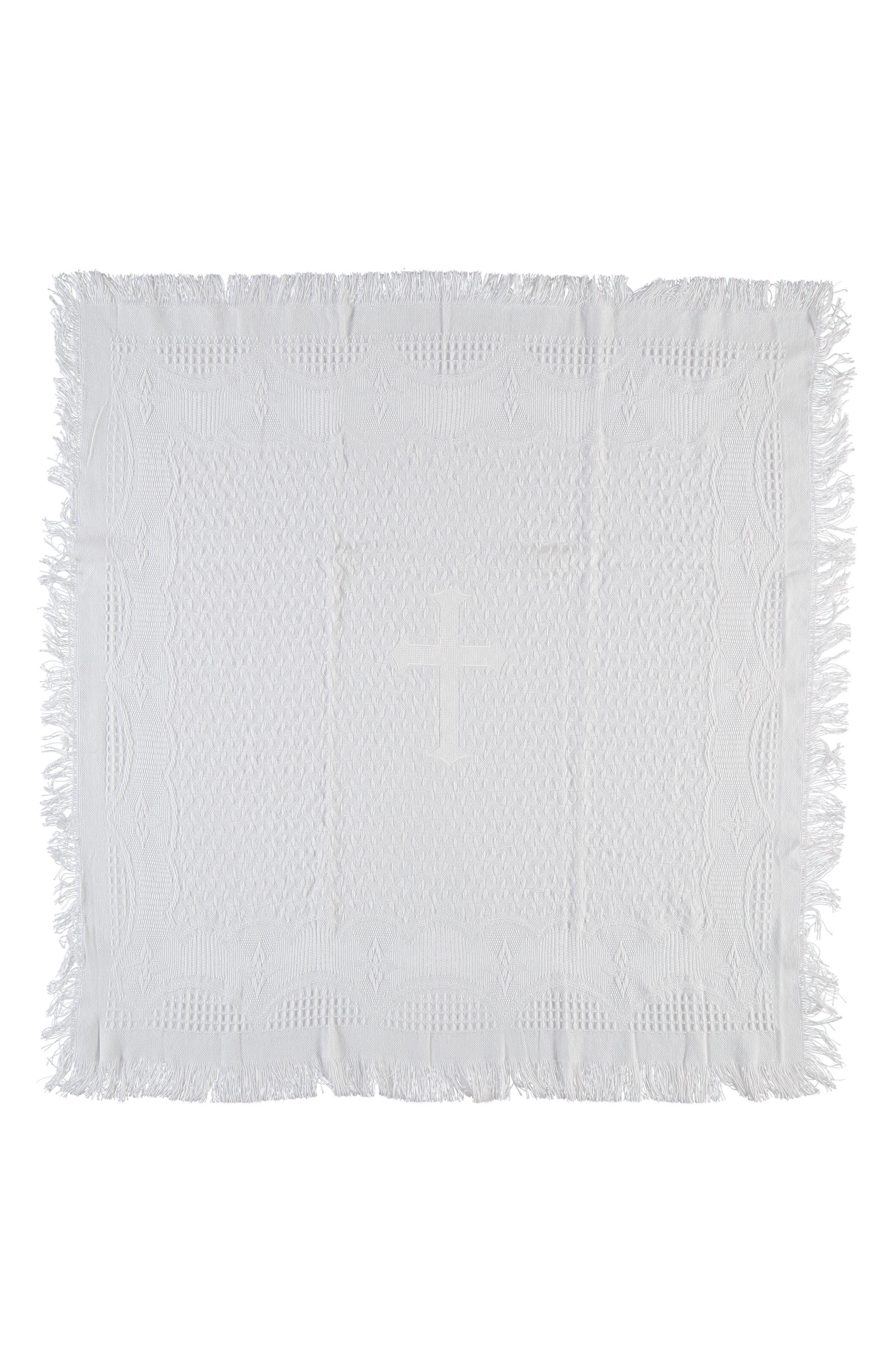 Christening Blanket,                             Alternate thumbnail 2, color,                             White