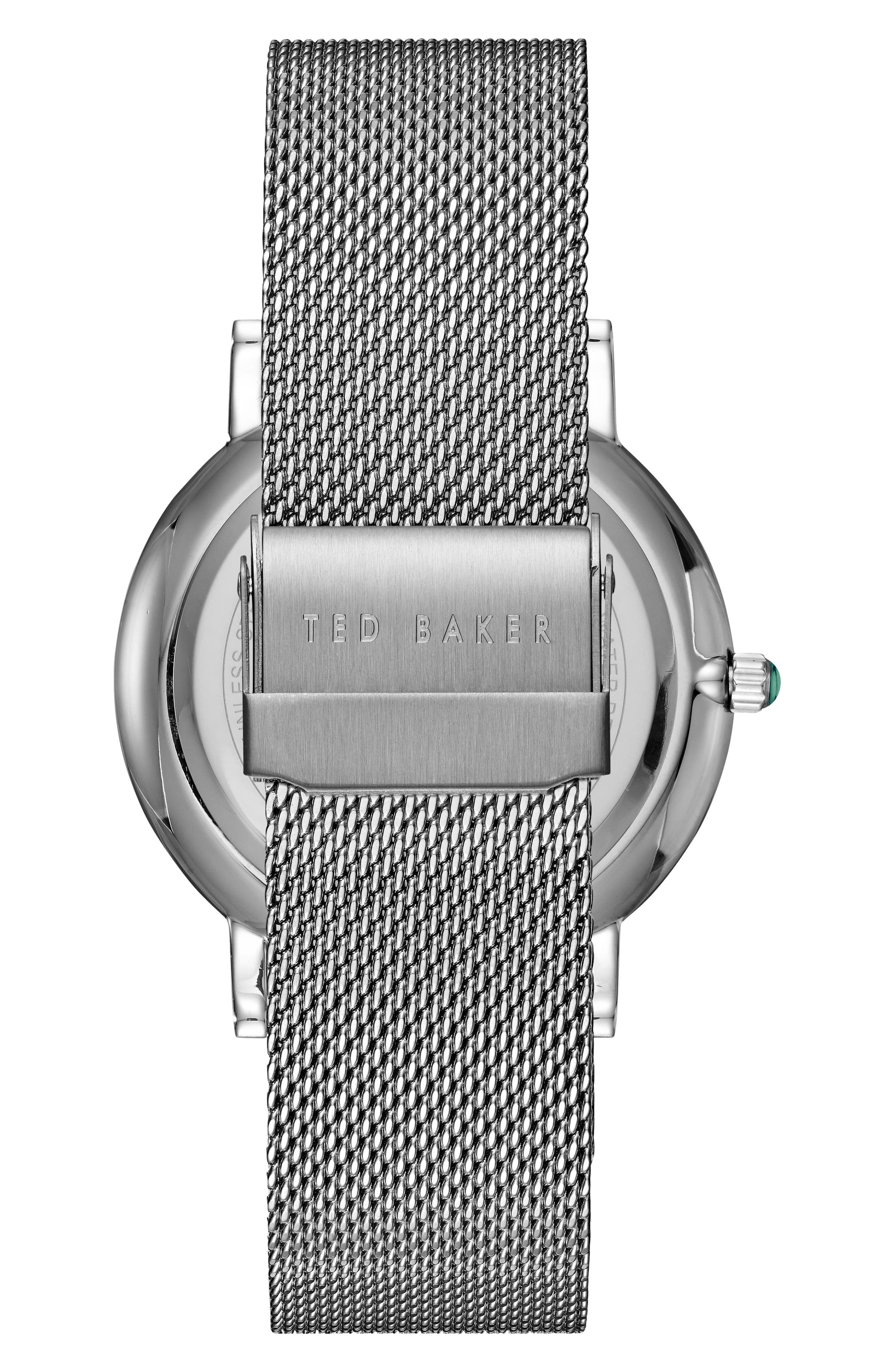 Alternate Image 2  - Ted Baker London Grant Mesh Bracelet Watch, 40mm