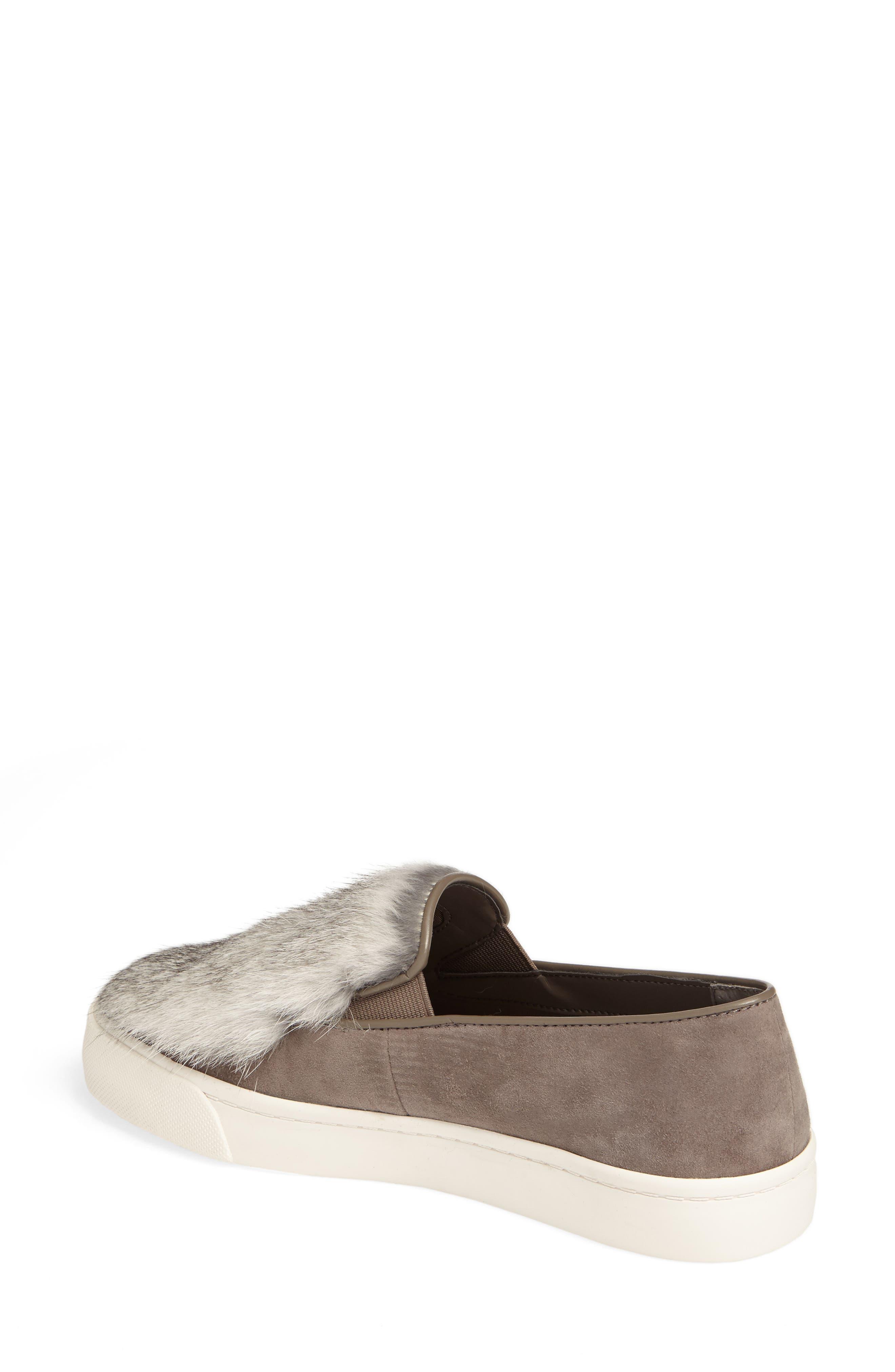 Alternate Image 2  - Louise et Cie Bershner Genuine Rabbit Fur Slip-On Sneaker (Women)