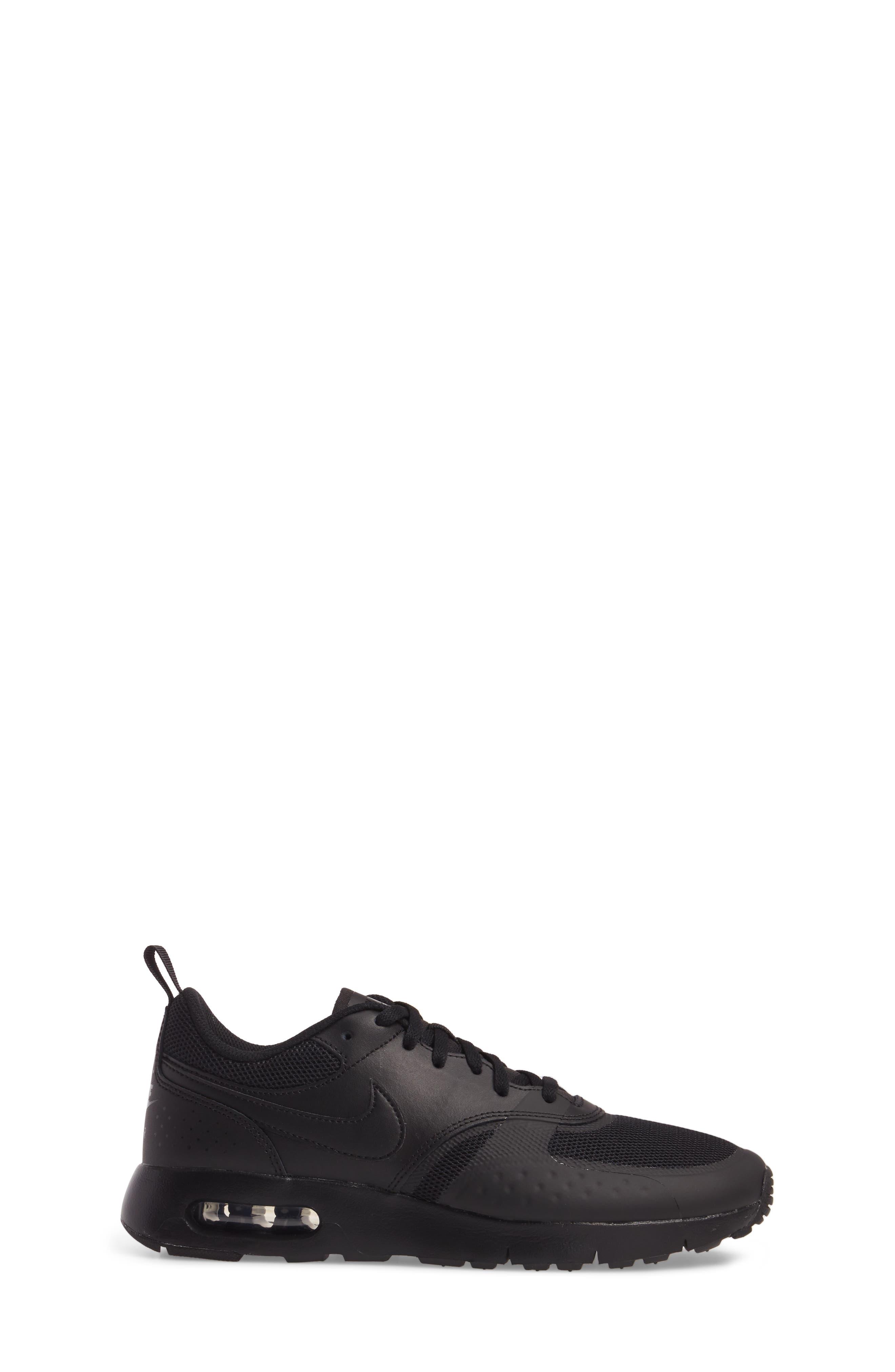 Air Max Vision Sneaker,                             Alternate thumbnail 3, color,                             Black