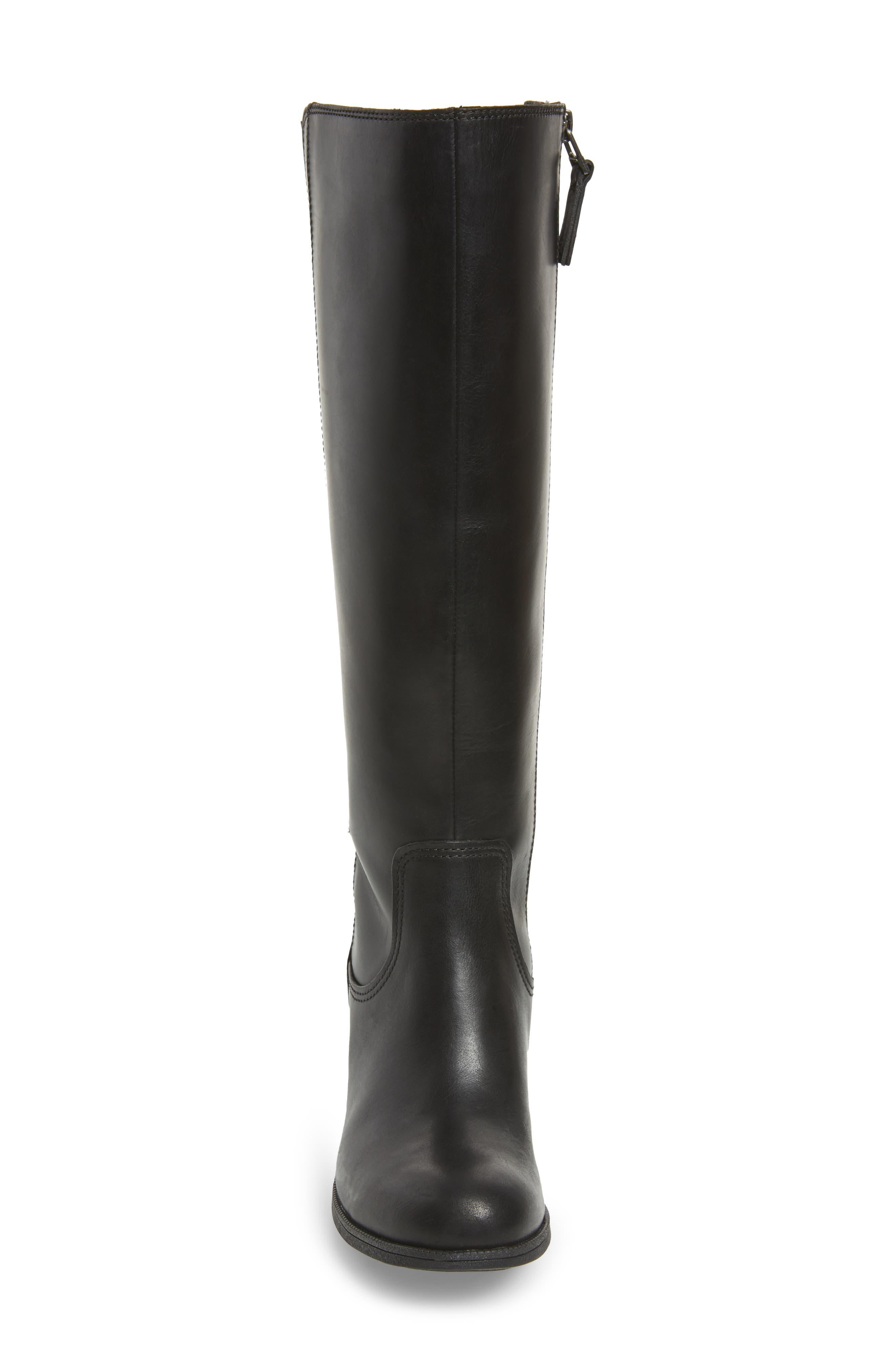 Maypearl Viola Boot,                             Alternate thumbnail 4, color,                             Black Leather
