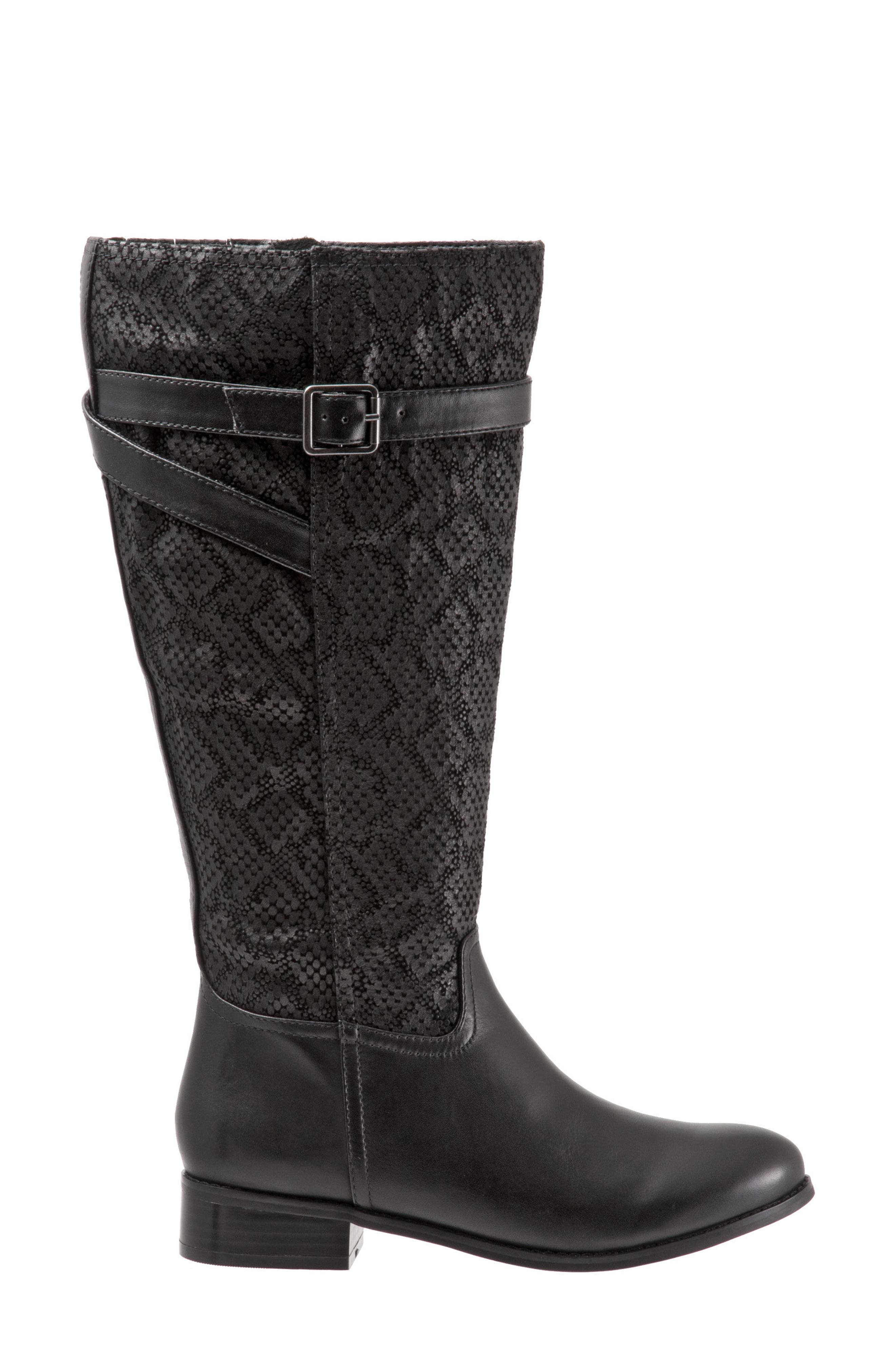 Lyra Tall Boot,                             Alternate thumbnail 3, color,                             Black