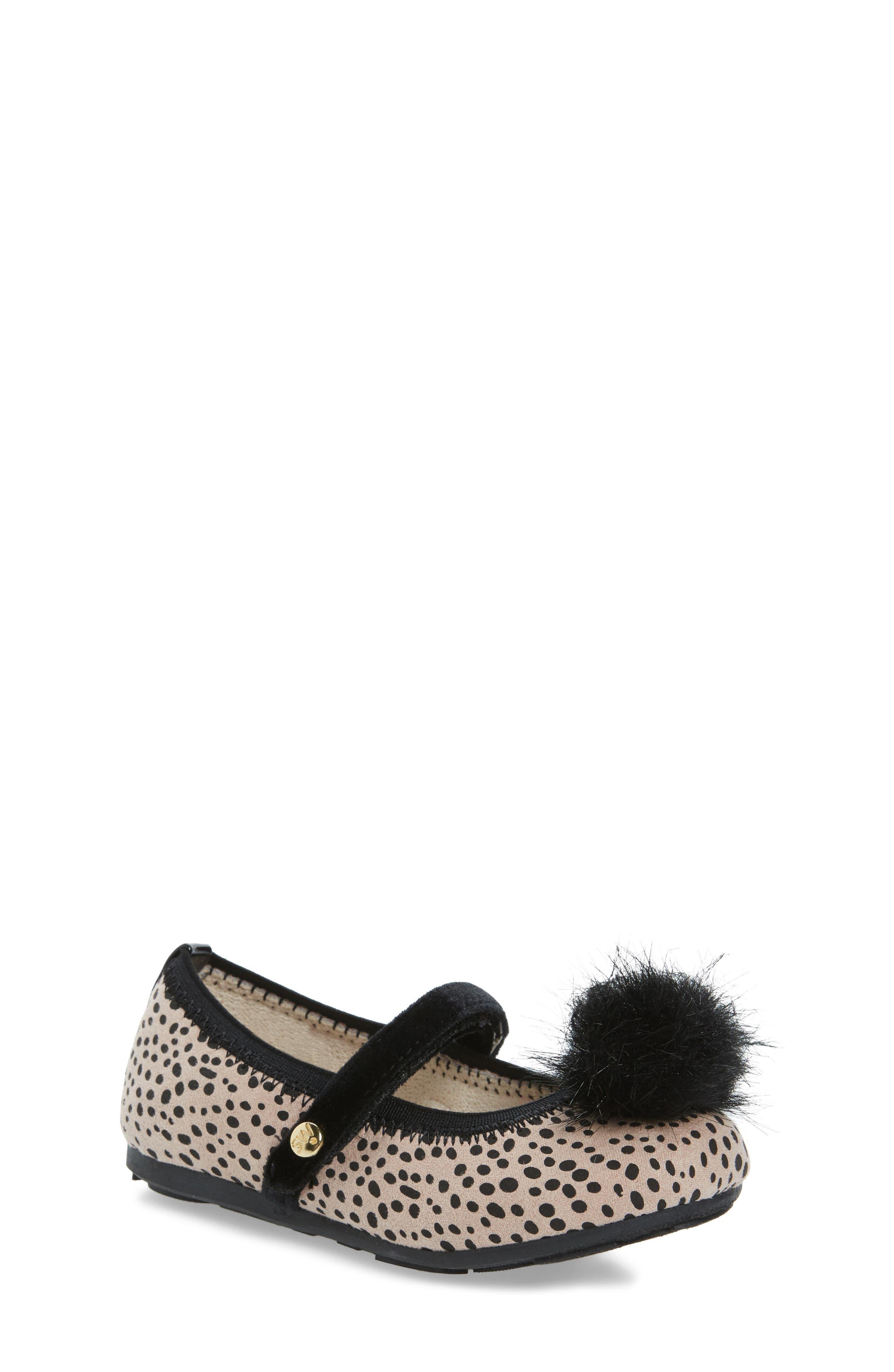 Stuart Weitzman Fannie Cheetah Faux Fur Mary Jane (Walker & Toddler)