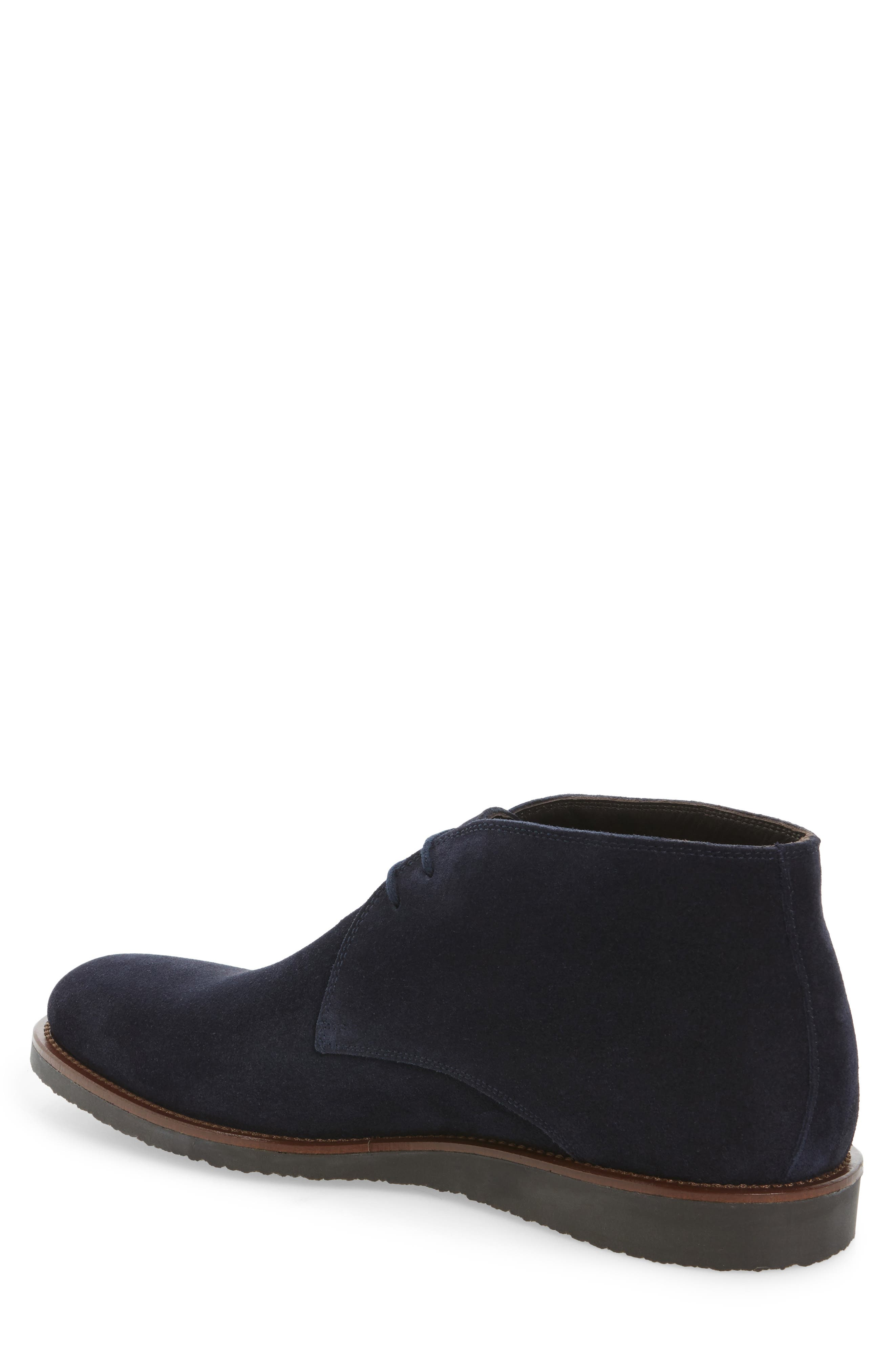 Franklin Chukka Boot,                             Alternate thumbnail 2, color,                             Blue Suede