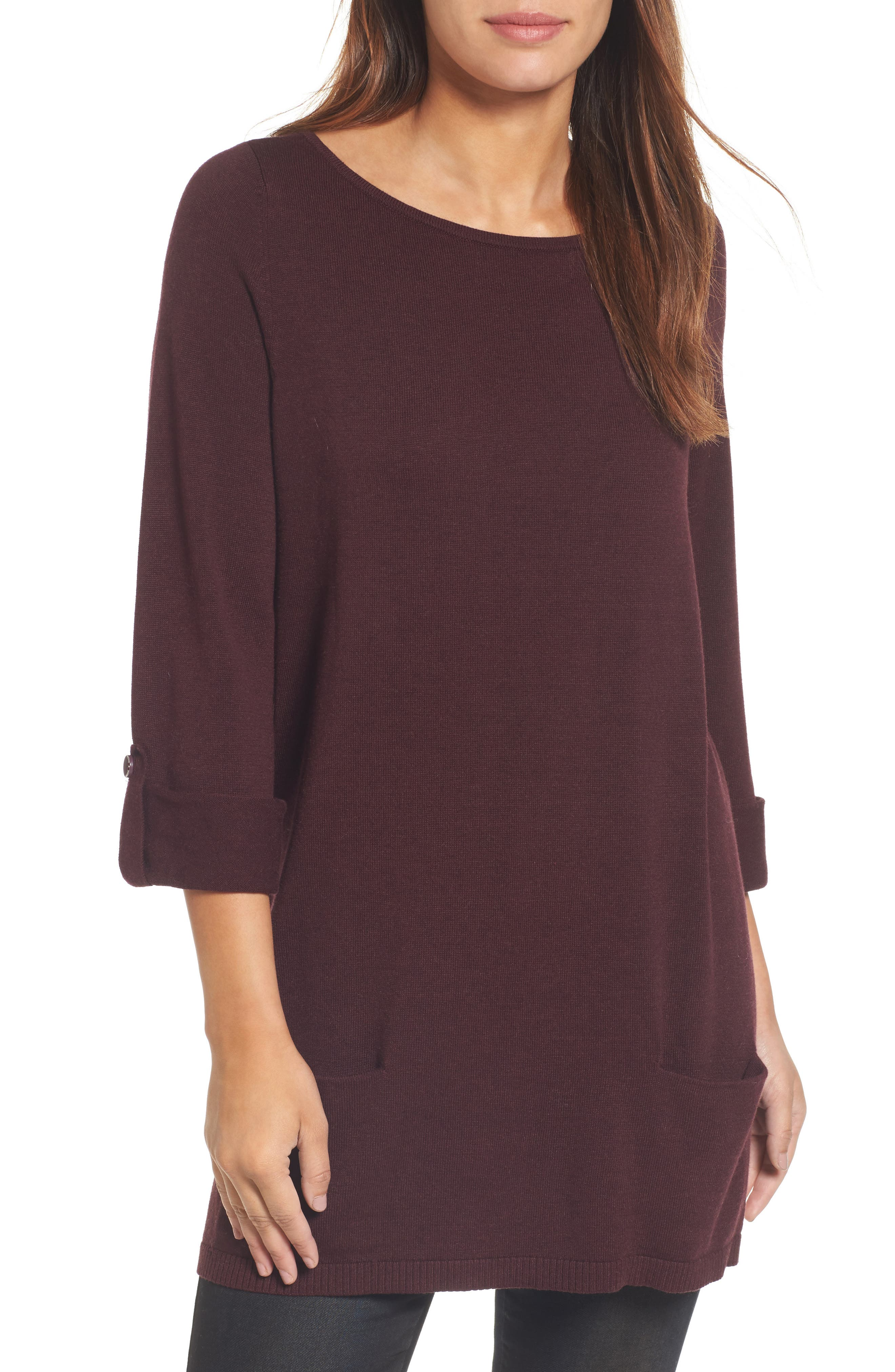 Caslon® Knit Tunic (Regular & Petite)