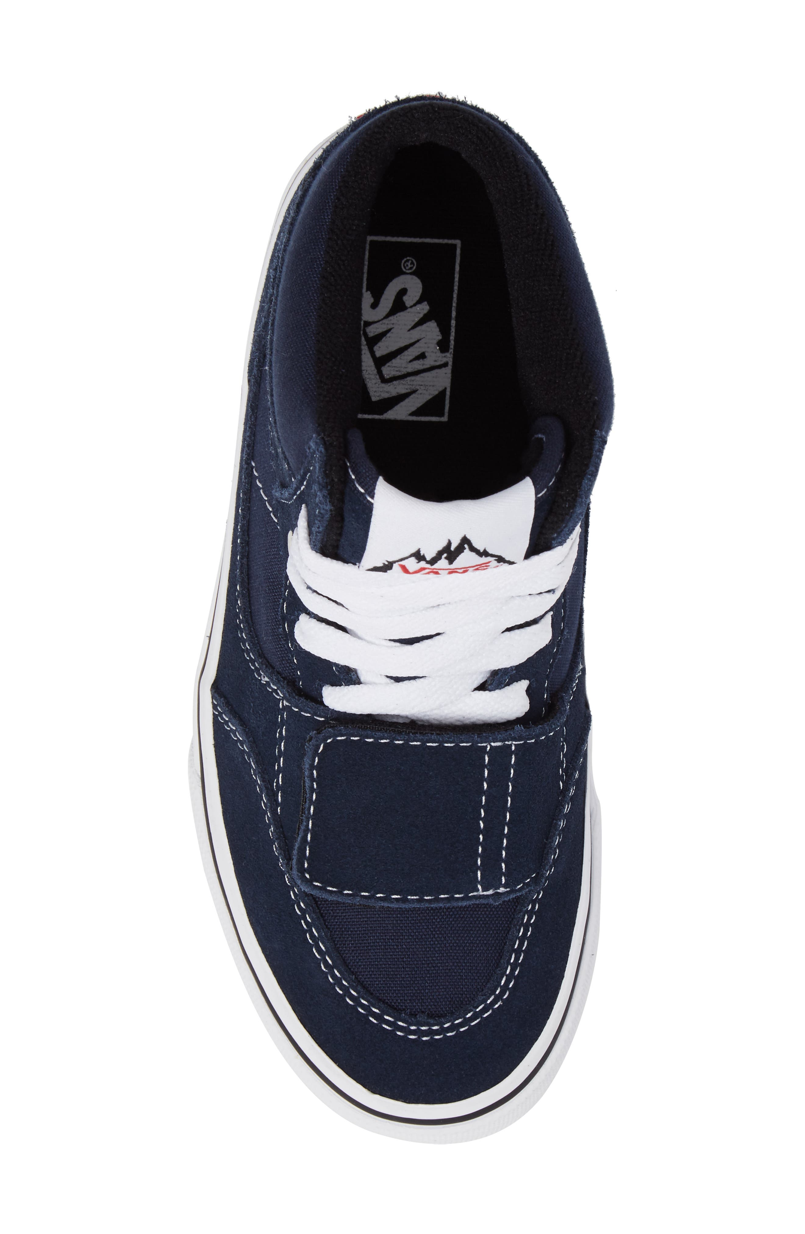 Mountain Edition Mid Top Sneaker,                             Alternate thumbnail 5, color,                             Dress Blue Canvas/ Suede