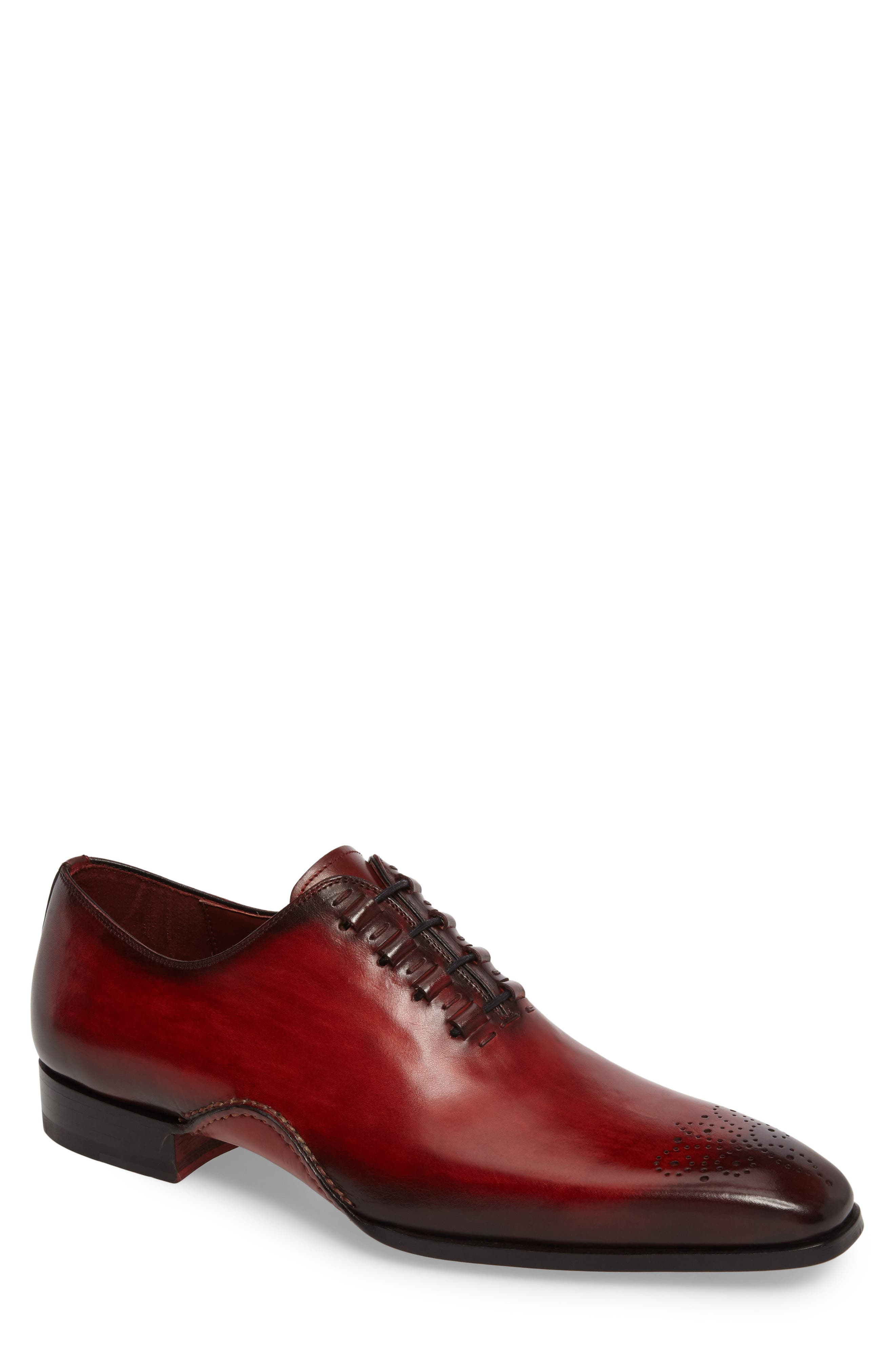 Josue Wholecut Oxford,                         Main,                         color, Red Leather