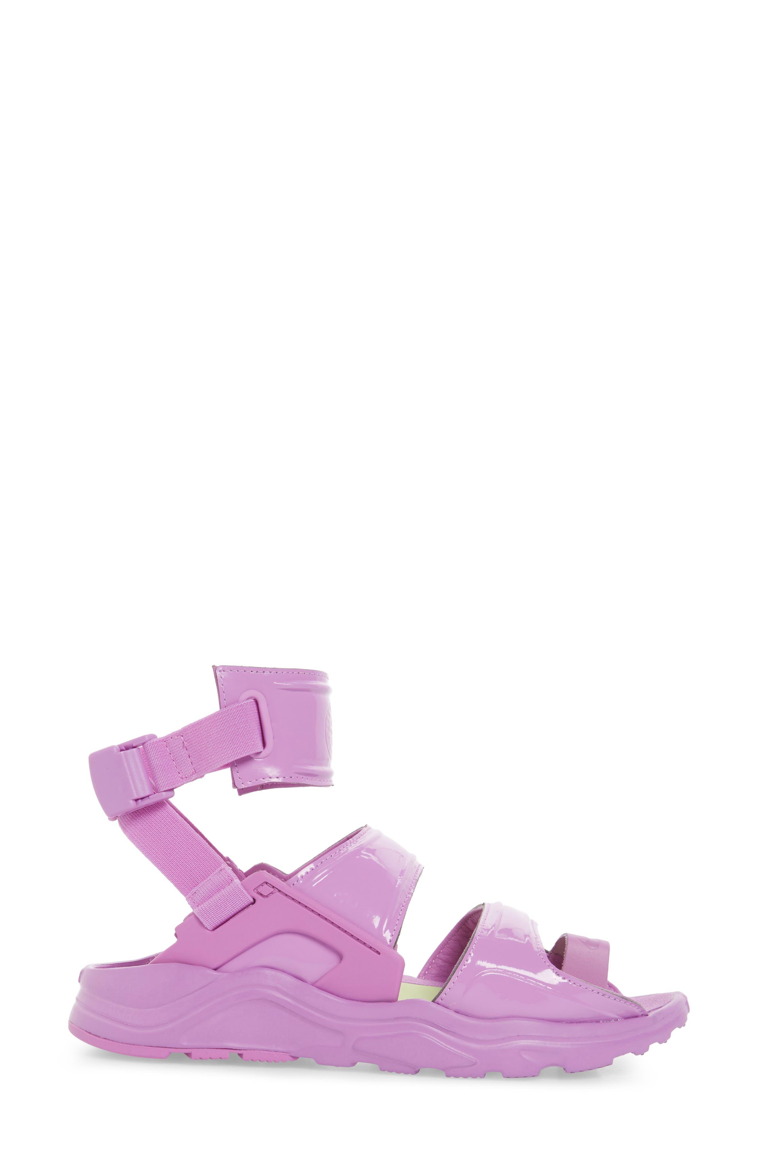 Air Huarache Gladiator Sandal,                             Alternate thumbnail 4, color,                             Fuchsia Glow