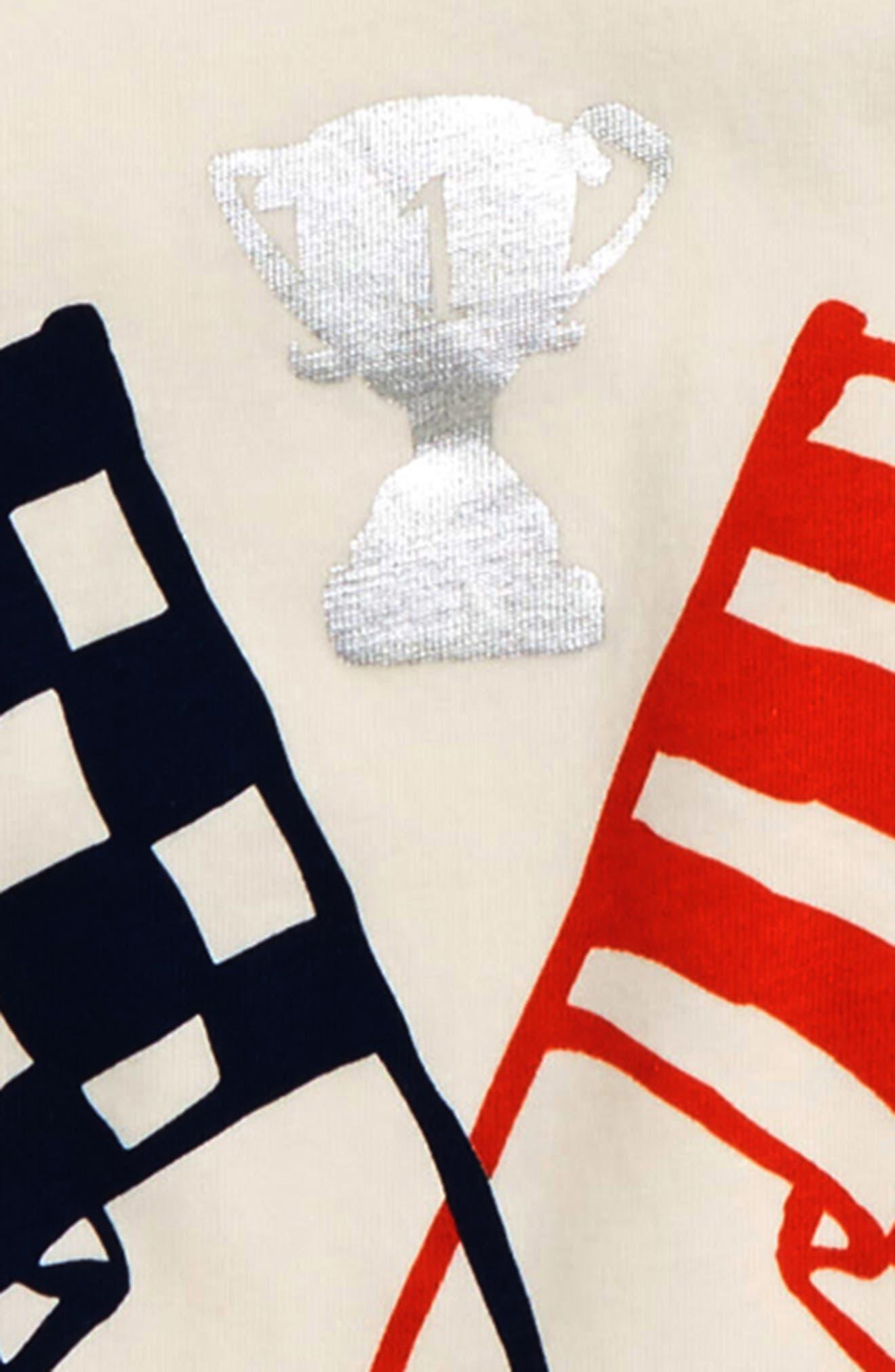 Hotchpotch Raglan T-Shirt,                             Alternate thumbnail 2, color,                             Ivory Flags