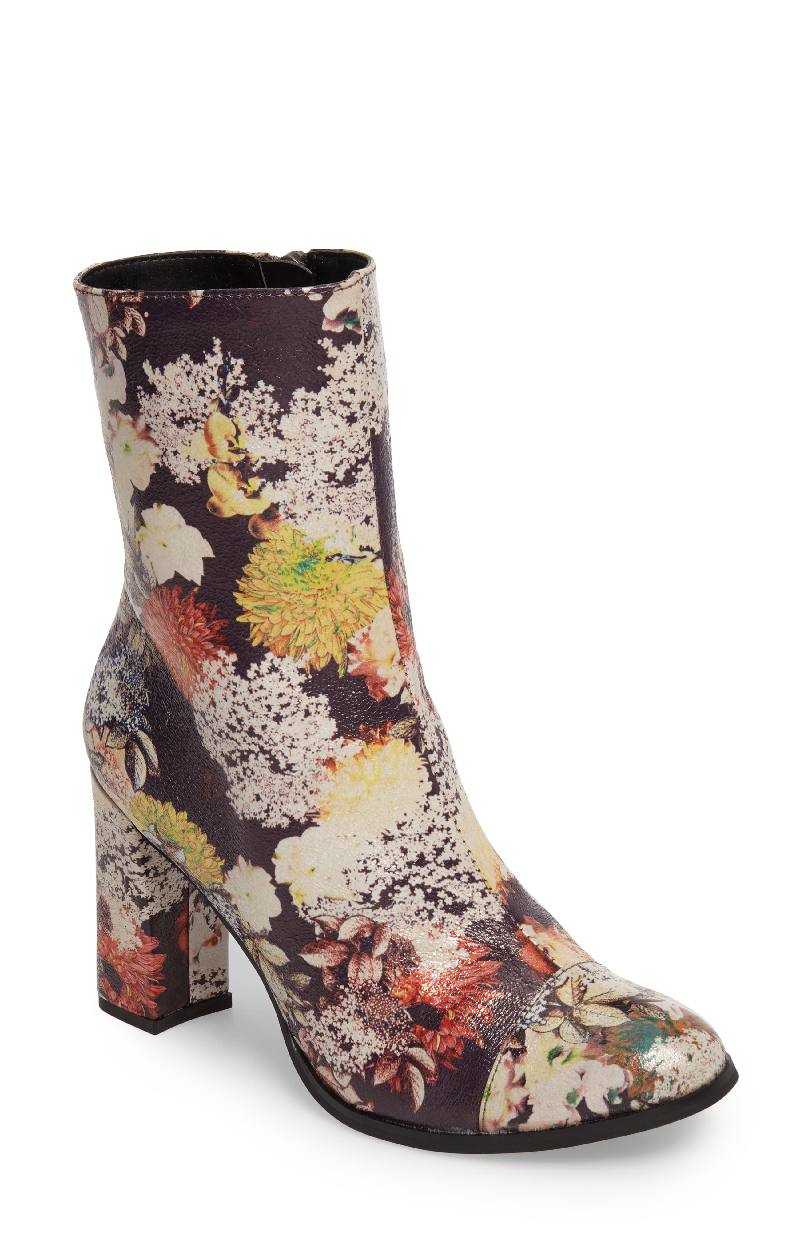 Cocunuts by Matisse La Brea Boot,                             Main thumbnail 1, color,                             Floral Print Faux Leather