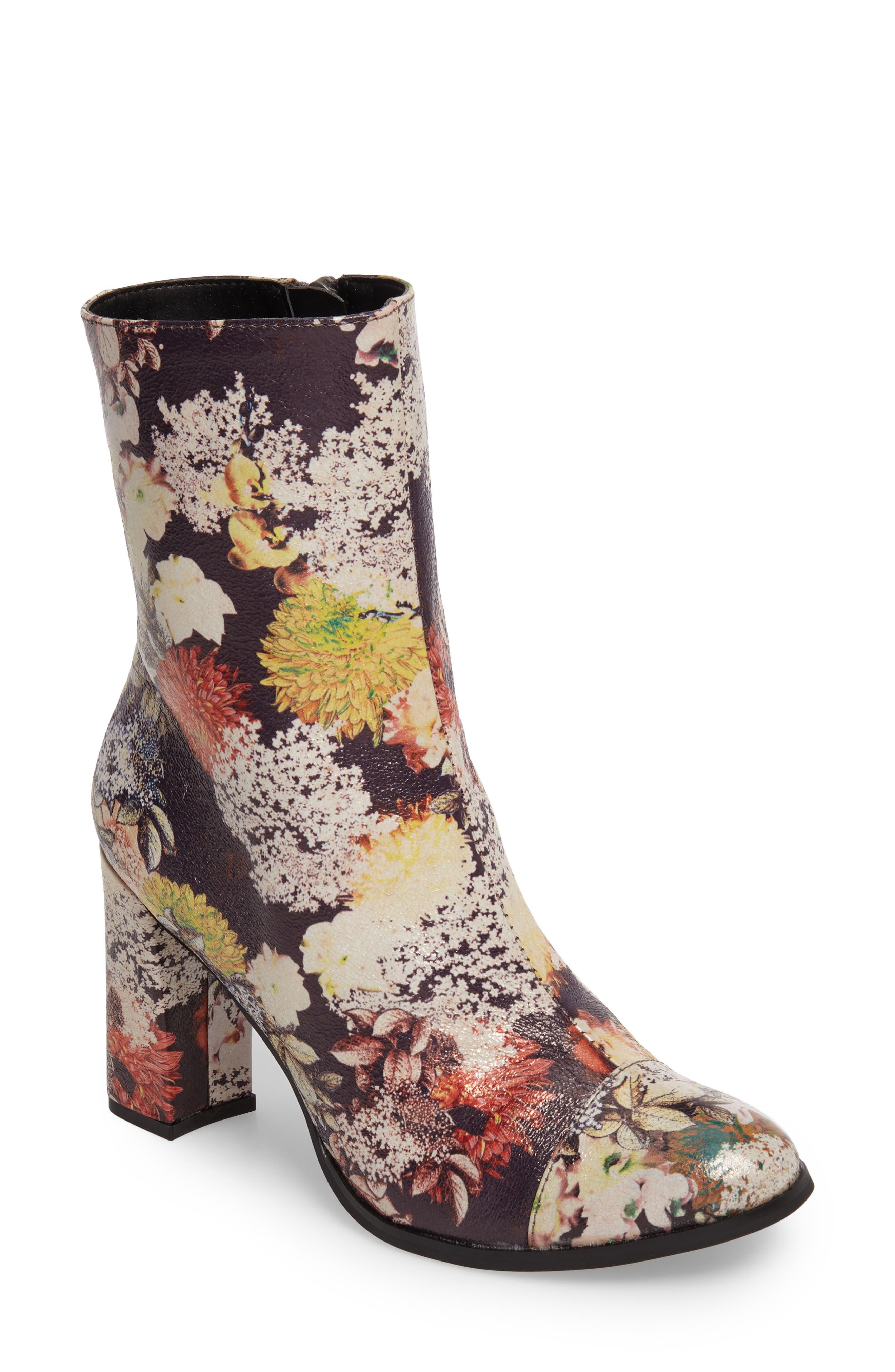 Cocunuts by Matisse La Brea Boot,                         Main,                         color, Floral Print Faux Leather