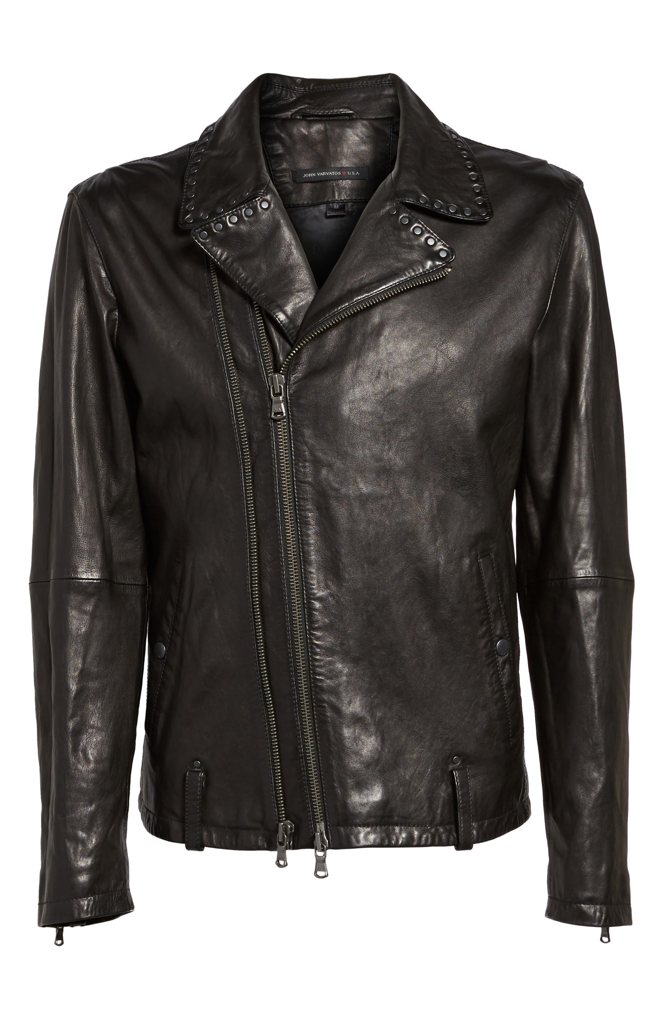 Alternate Image 6  - John Varvatos Star USA Studded Collar Leather Jacket