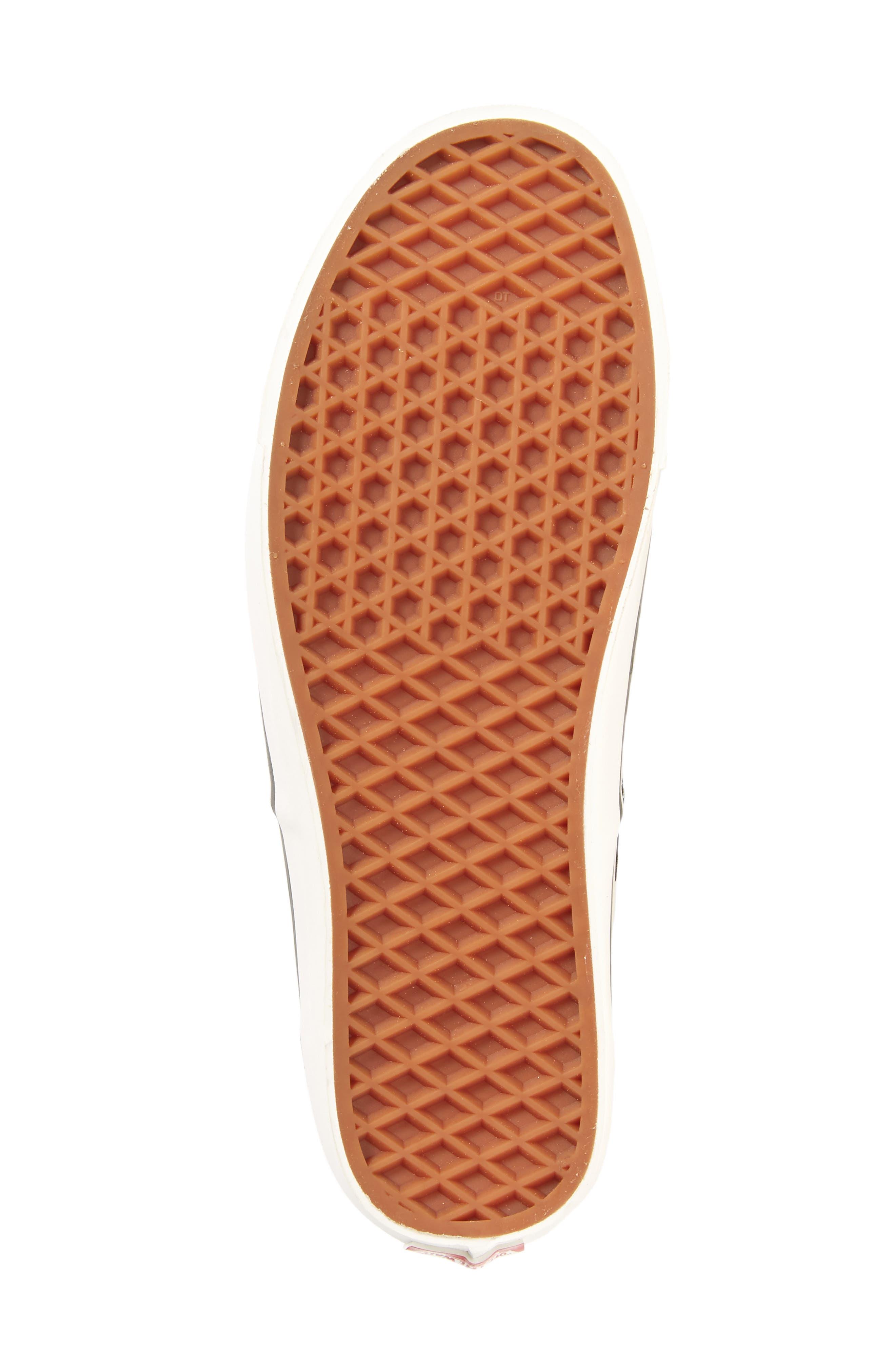 UA Authentic 44 DX Sneaker,                             Alternate thumbnail 6, color,                             Black/ Check Canvas