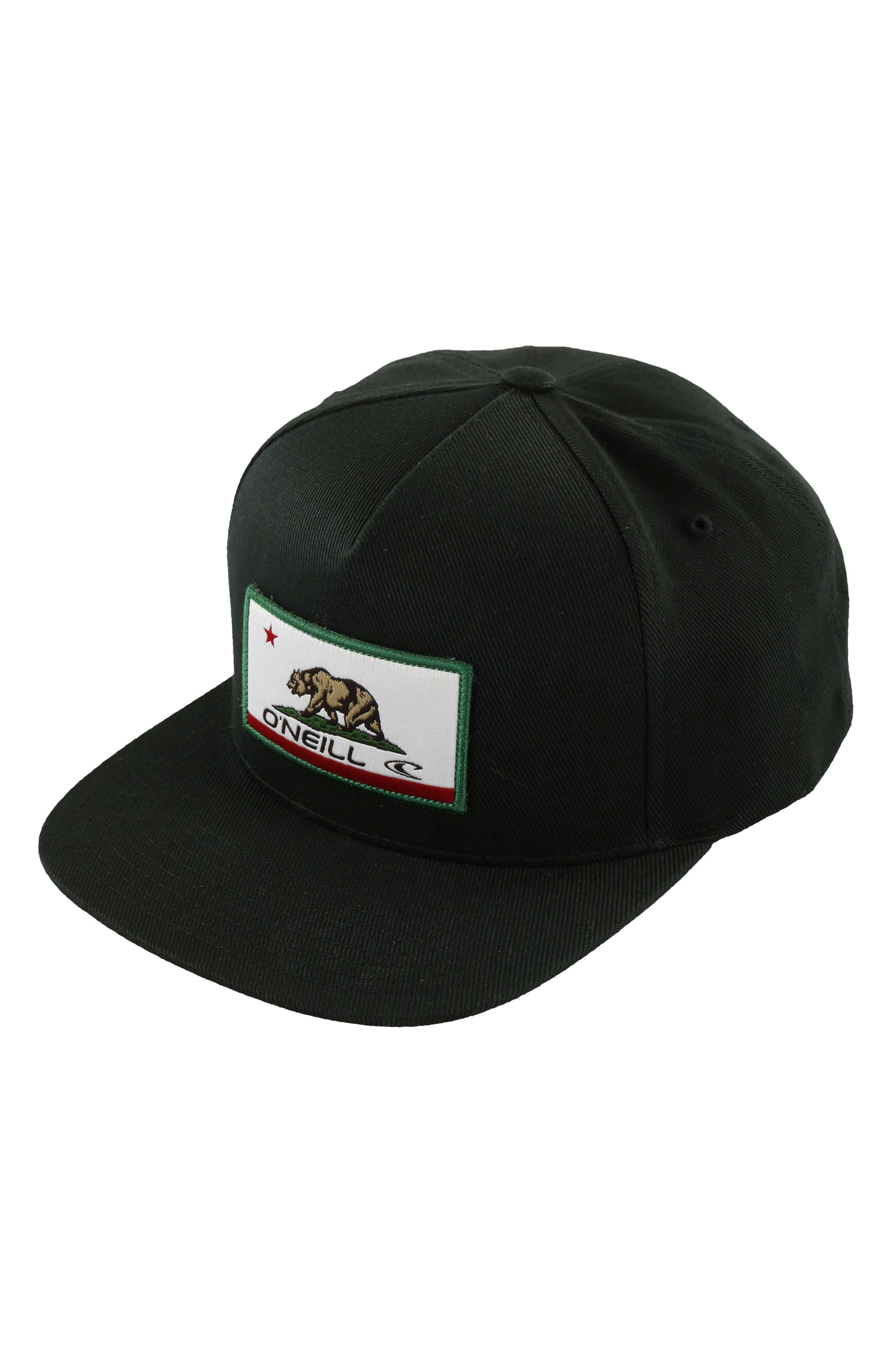 Signal Snapback Cap,                         Main,                         color, Black Solid
