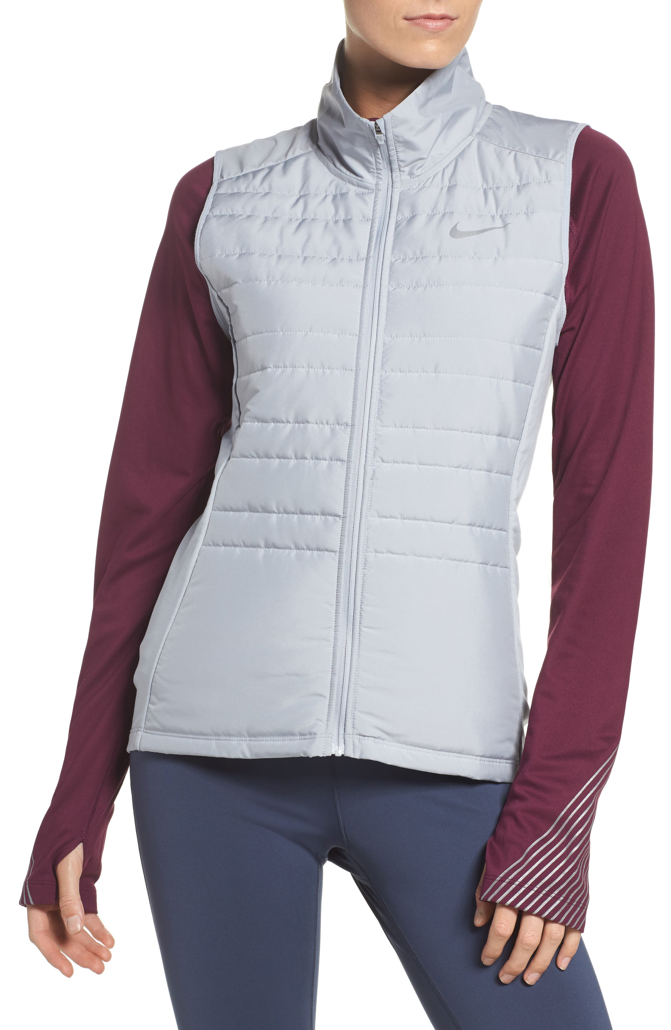 Essentials Running Vest,                         Main,                         color, Wolf Grey/ Metallic Silver