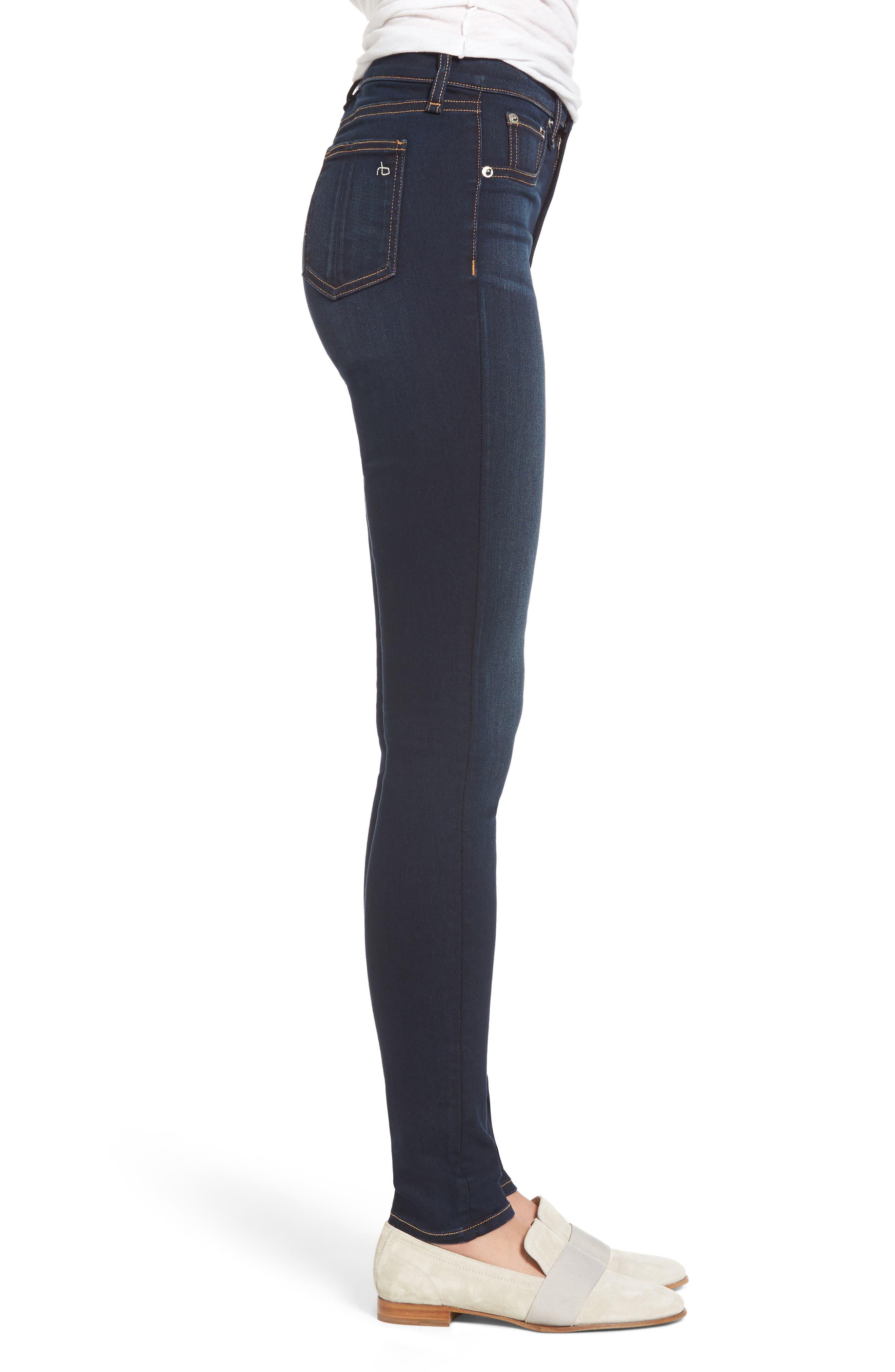 Alternate Image 3  - rag & bone DENIM High Waist Skinny Jeans (Bedford)