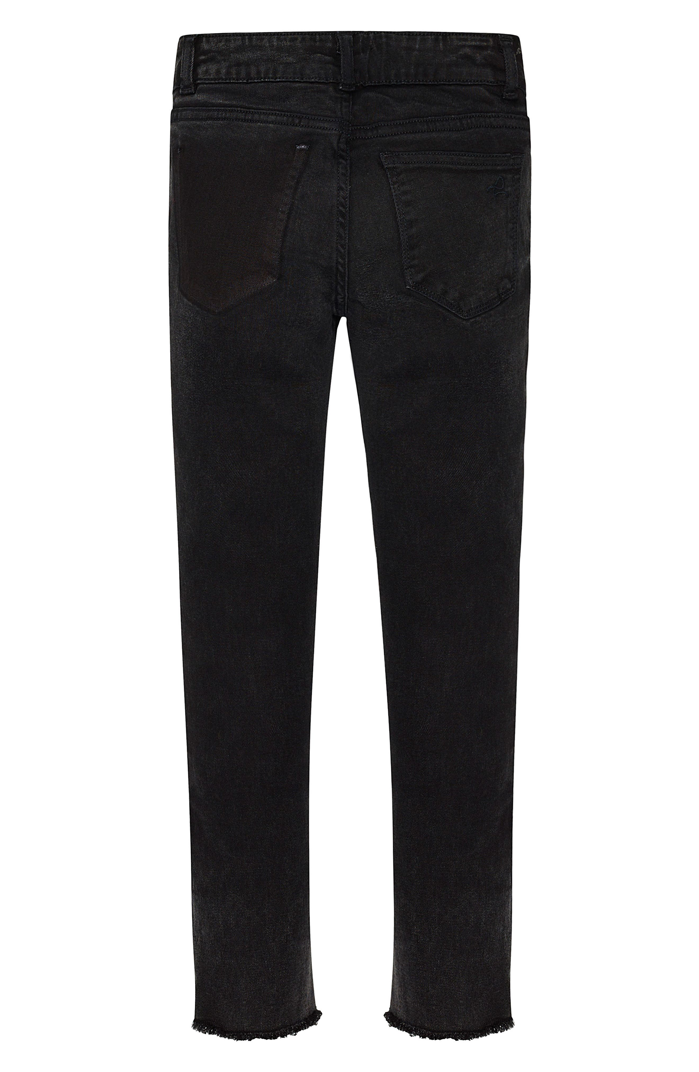 Alternate Image 2  - DL1961 Chloe Moto Skinny Jeans (Big Girls)