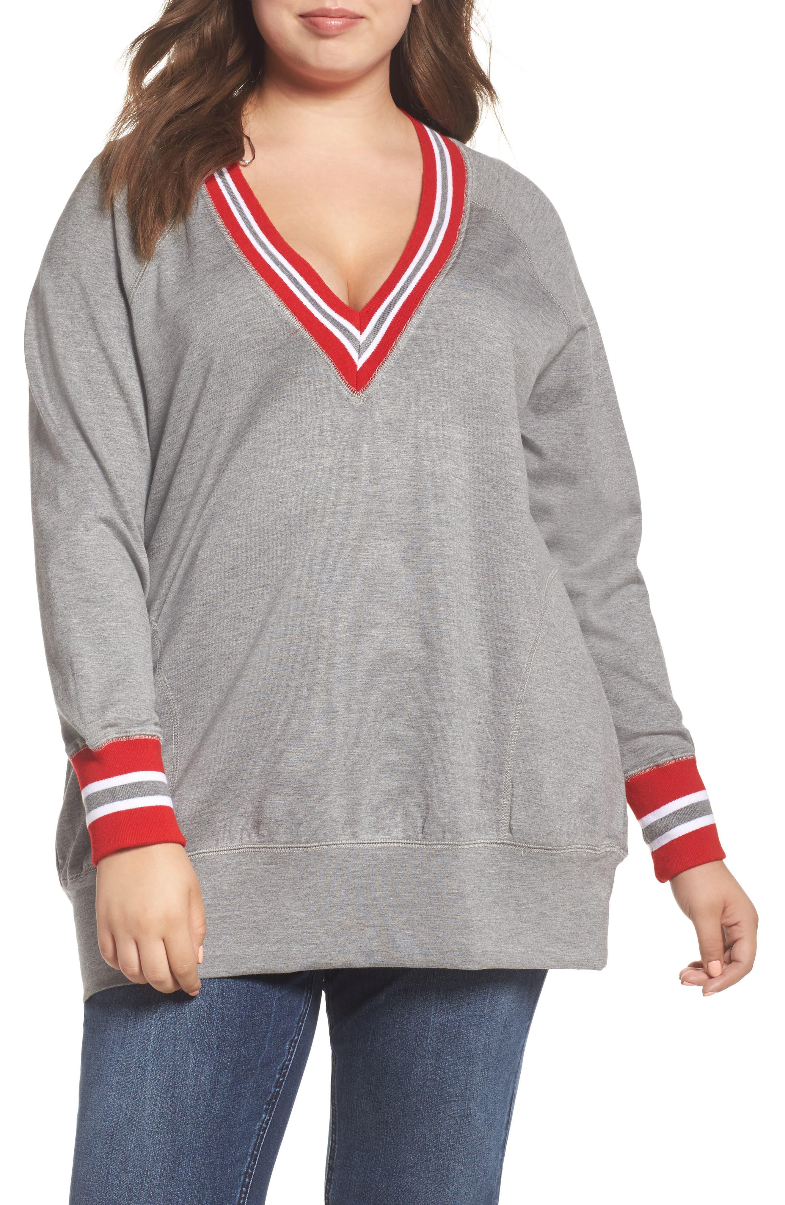 Alternate Image 1 Selected - Melissa McCarthy Seven7 Sweatshirt (Plus Size)