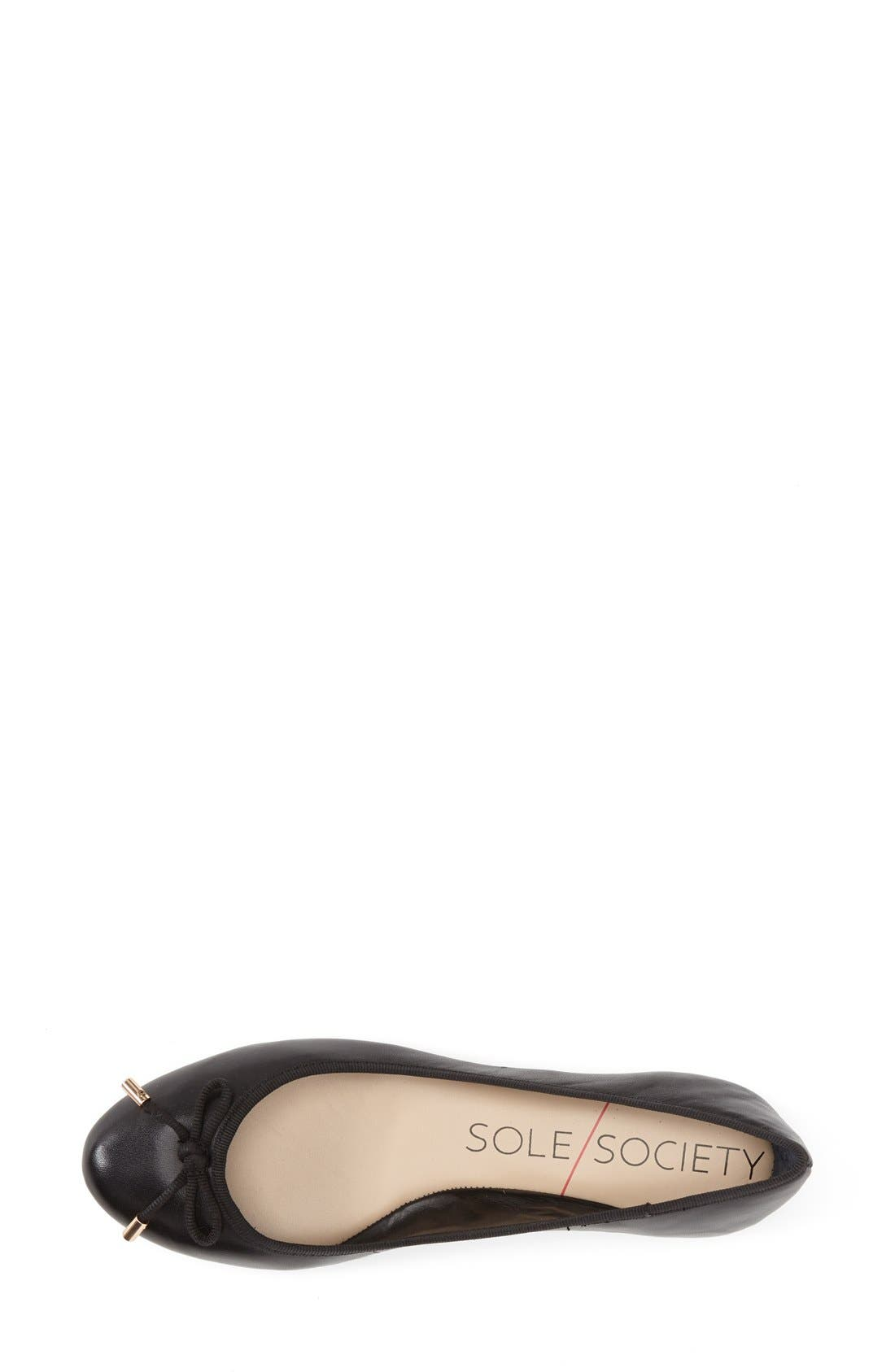 Alternate Image 3  - Sole Society 'Natalie' Leather Ballet Flat (Women)