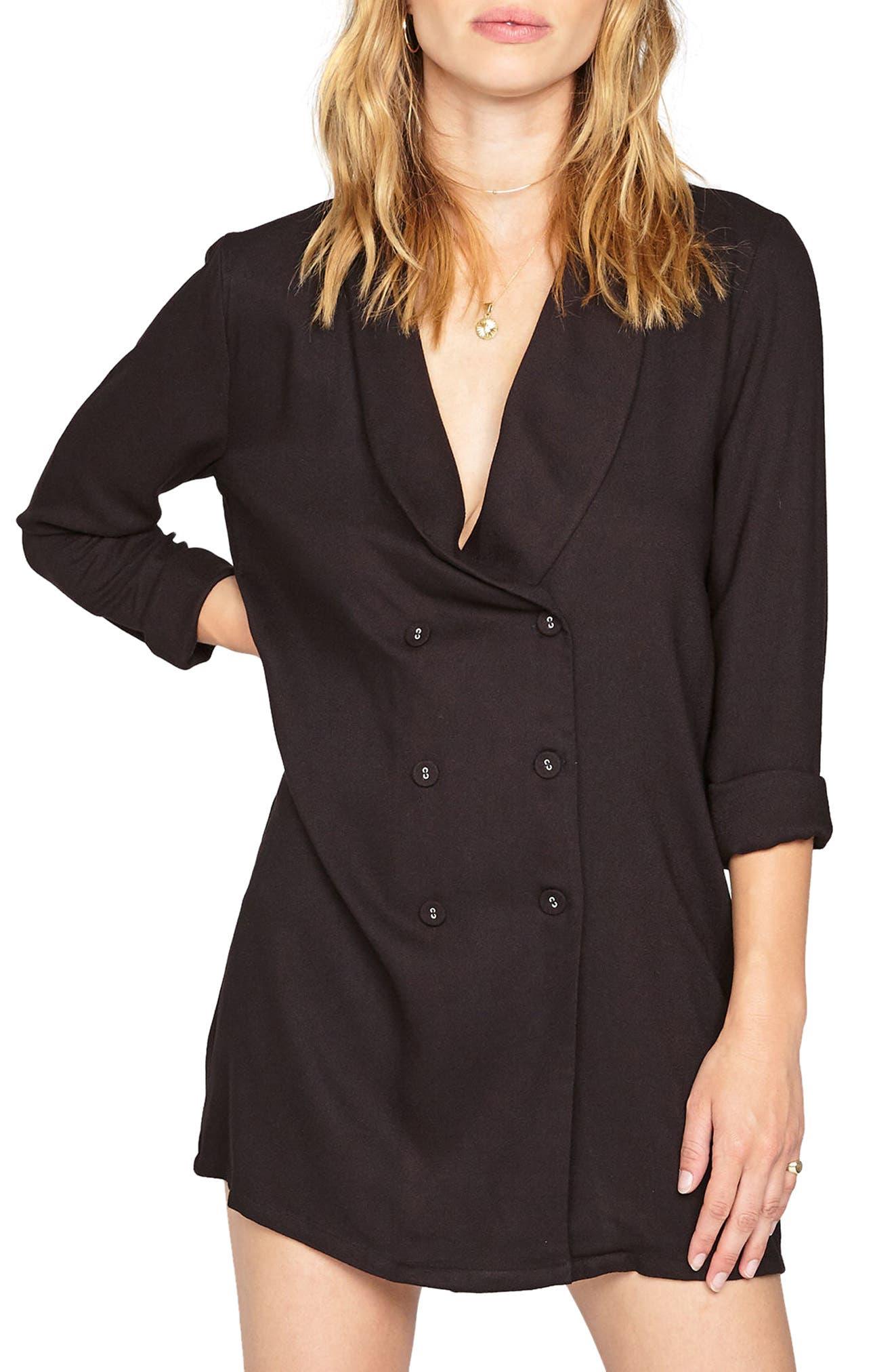 Blazin Double Breasted Blazer,                         Main,                         color, Black