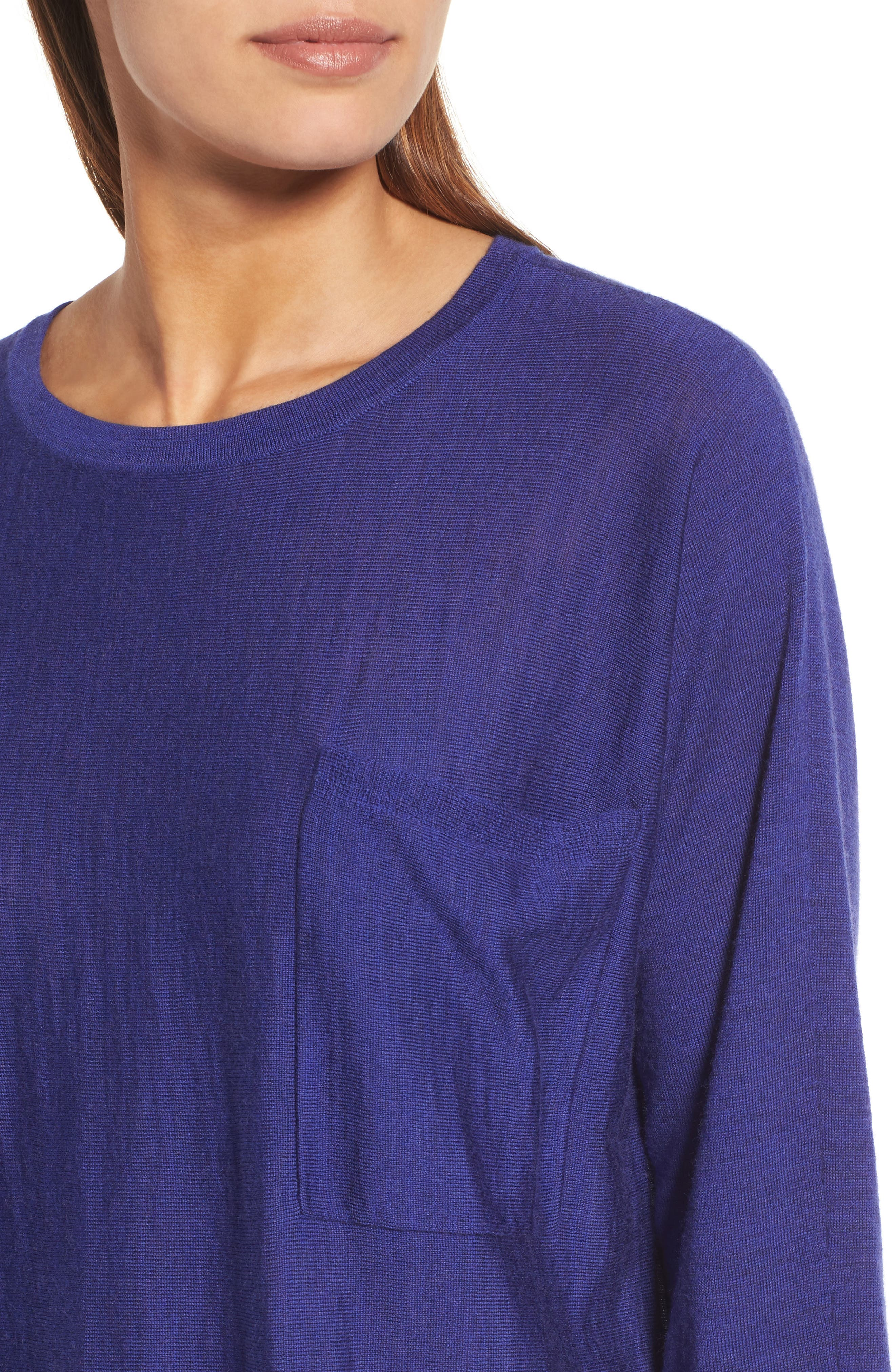 Alternate Image 4  - Eileen Fisher Lightweight Merino Wool Sweater