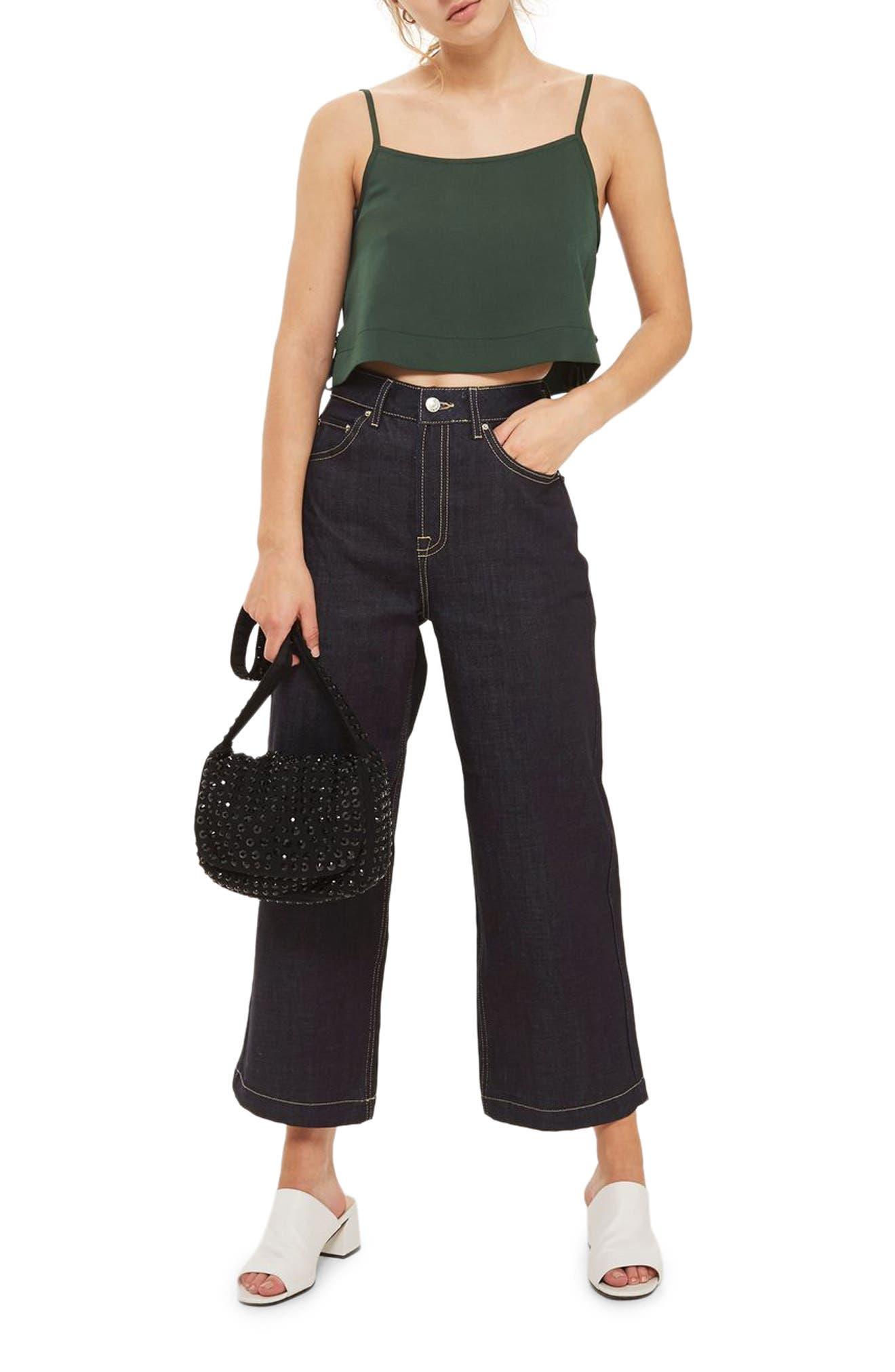 Alternate Image 1 Selected - Topshop Side Tie Crop Camisole