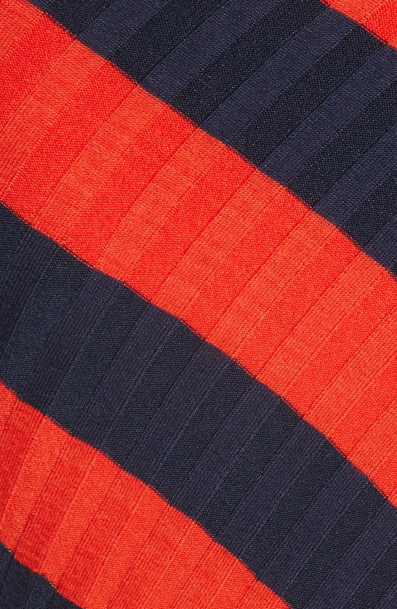 Asymmetrical Stripe Sweater,                             Alternate thumbnail 6, color,                             Persimmon