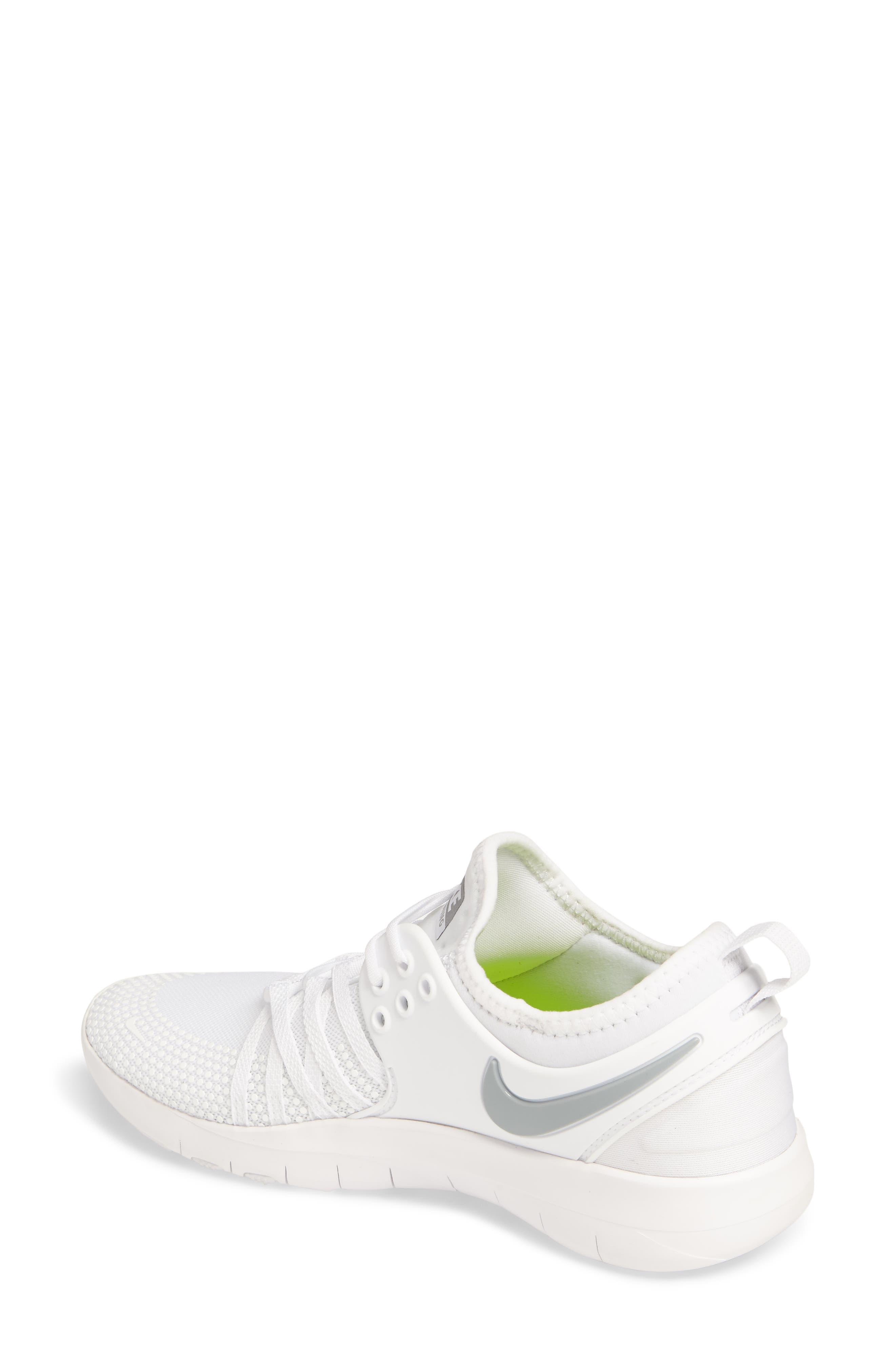 Free TR 7 Training Shoe,                             Alternate thumbnail 2, color,                             White/ Metallic Silver
