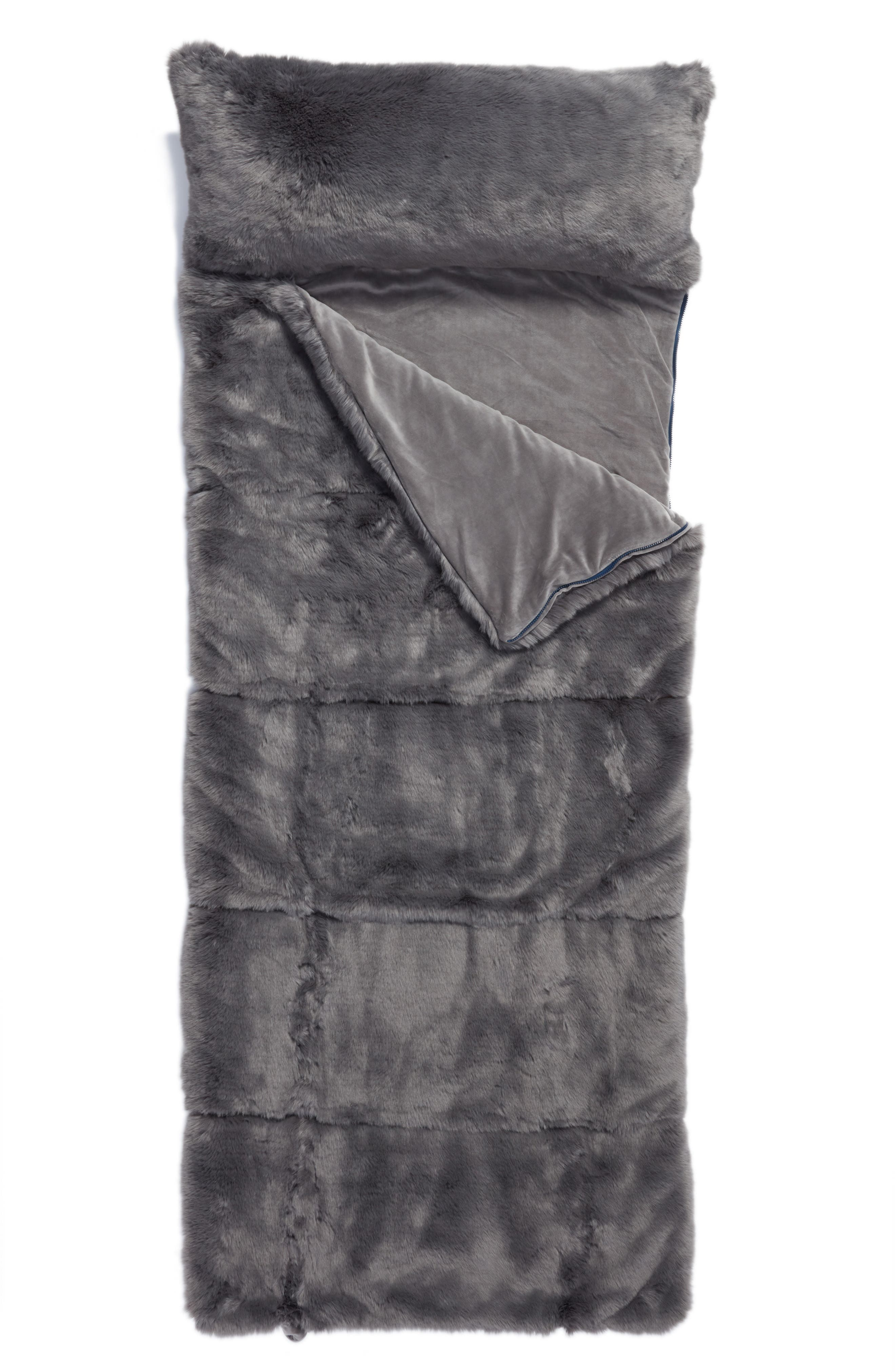 nordstrom at home cuddle up faux fur sleeping bag